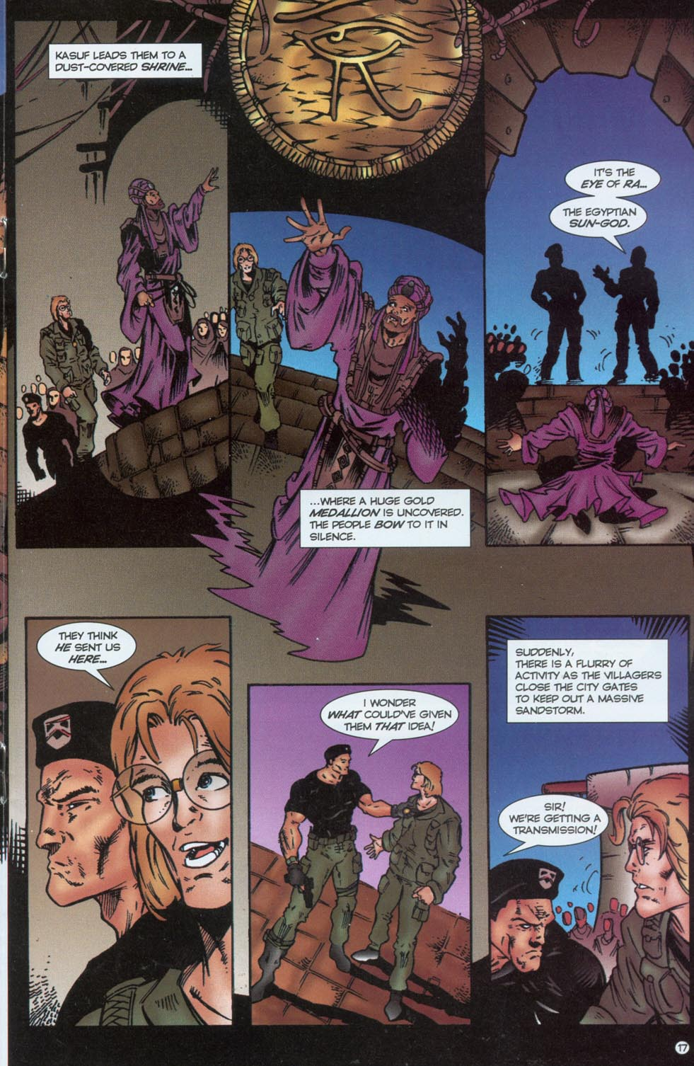 Read online Stargate comic -  Issue #1 - 19