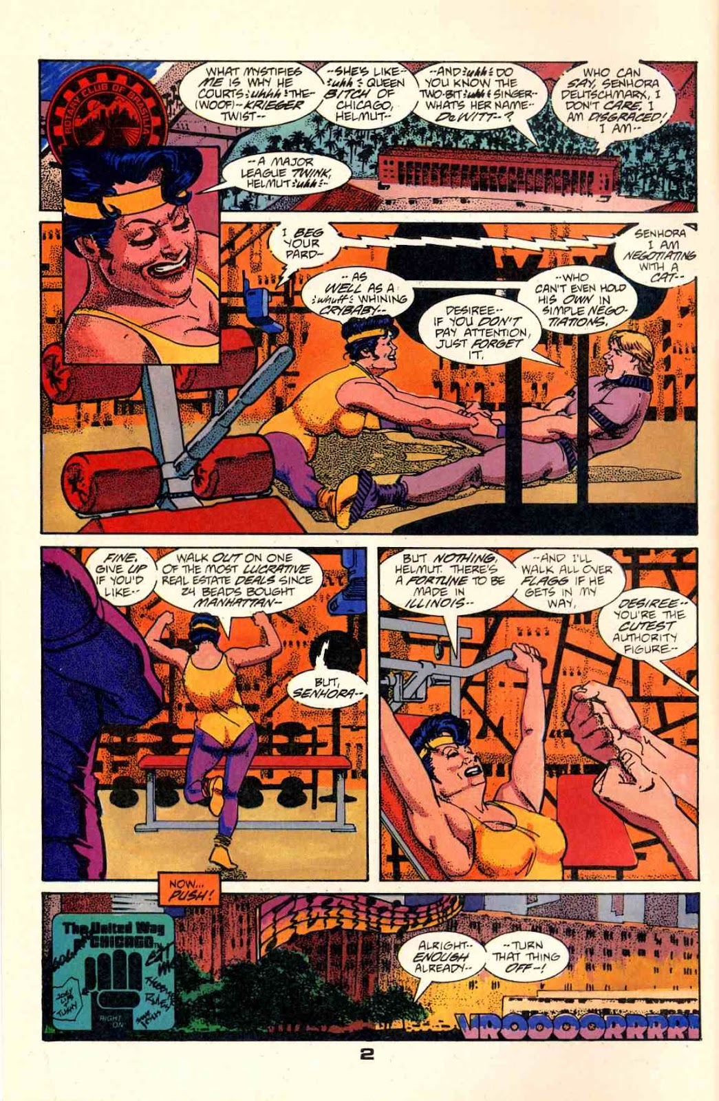 Howard Chaykin's American Flagg issue 2 - Page 4
