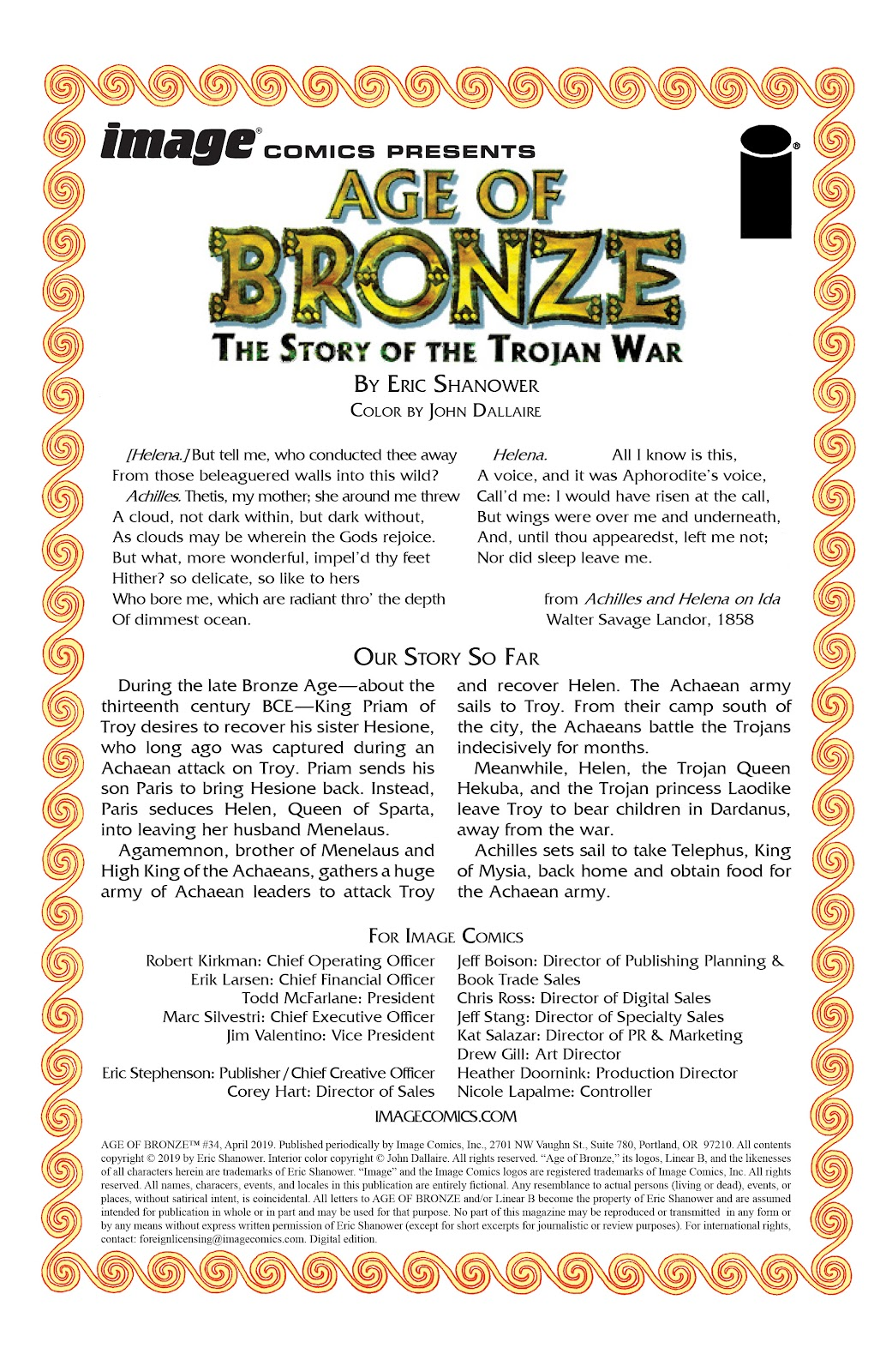 Read online Age of Bronze comic -  Issue #34 - 2