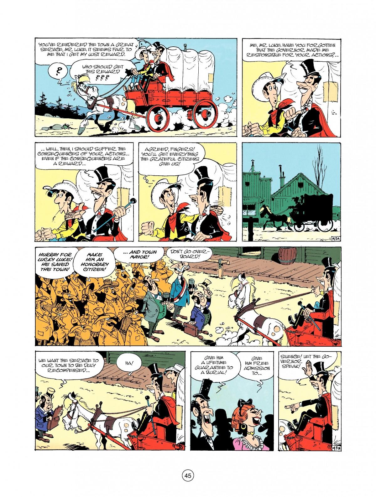Read online A Lucky Luke Adventure comic -  Issue #37 - 45