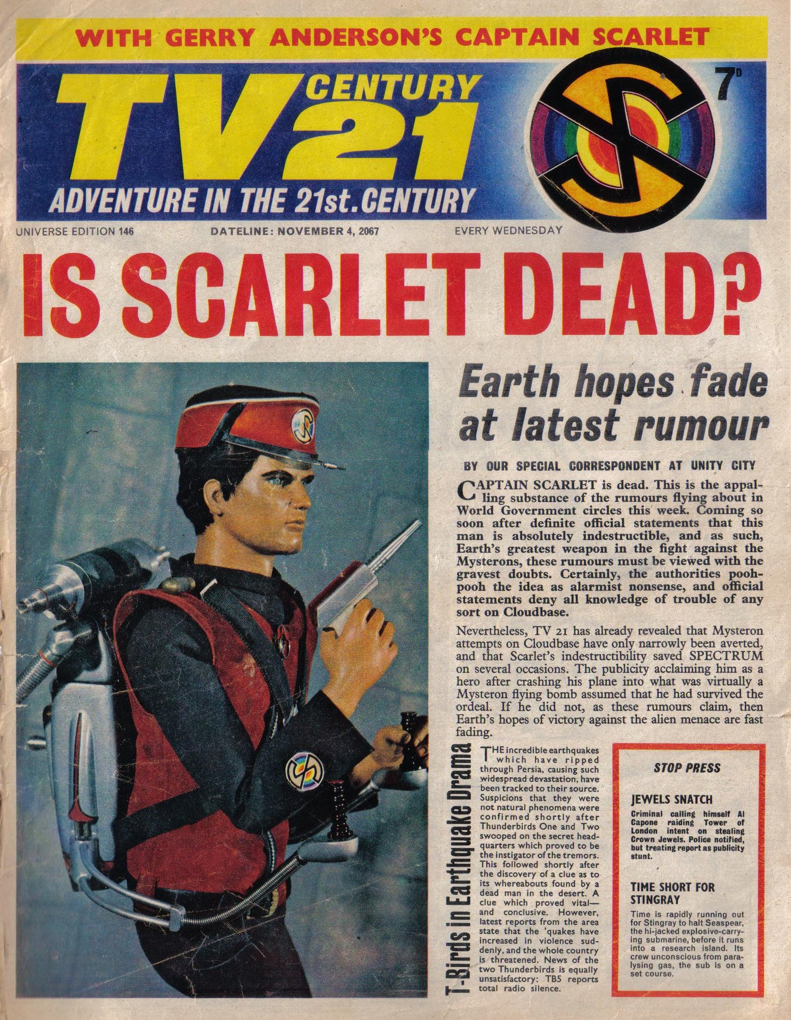 Read online TV Century 21 (TV 21) comic -  Issue #146 - 1