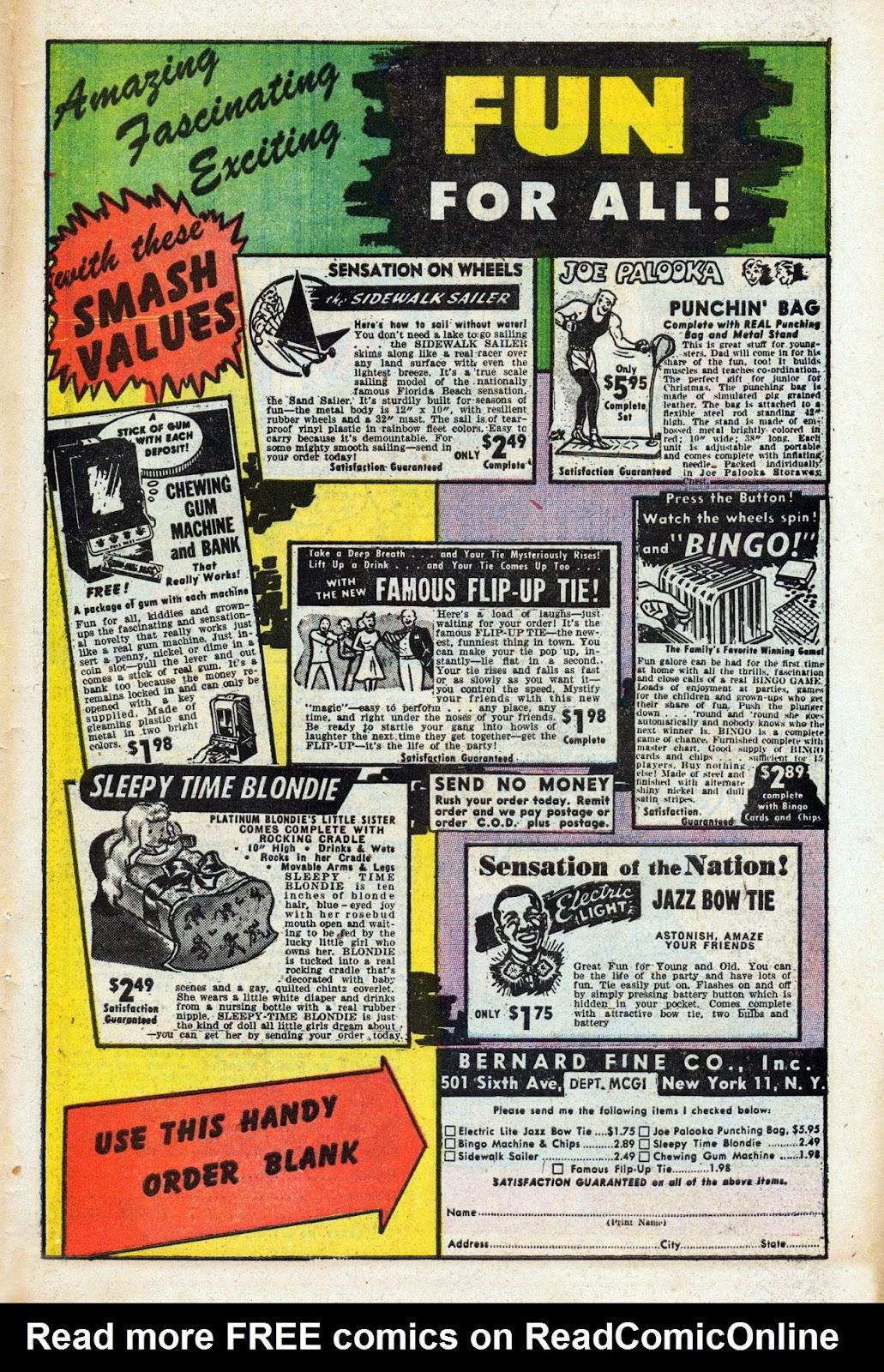 Read online Comedy Comics (1948) comic -  Issue #3 - 33