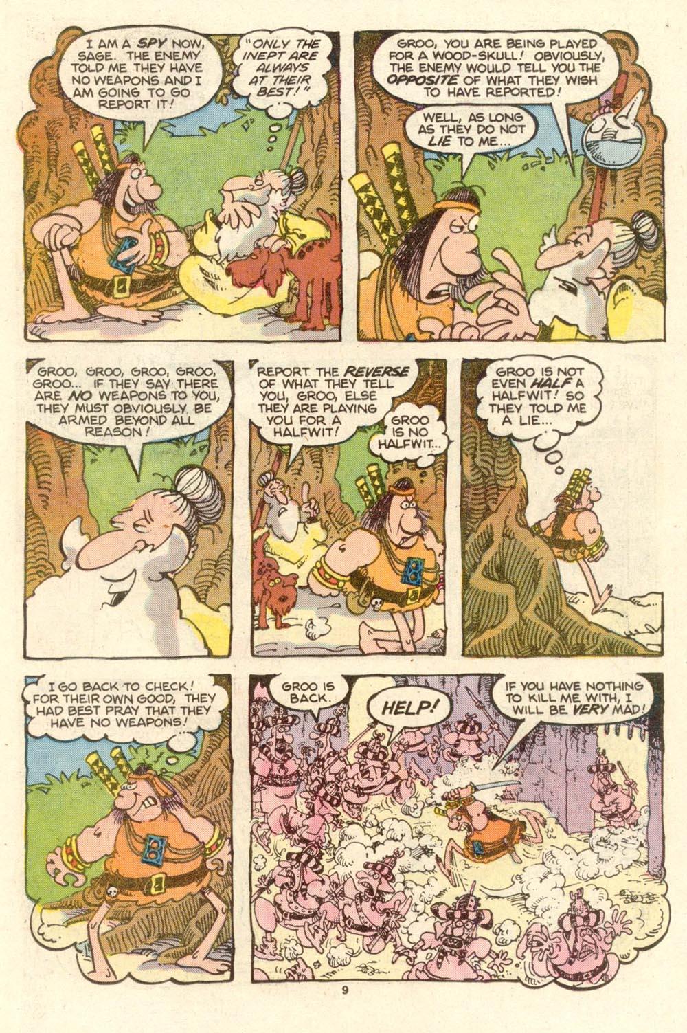 Read online Sergio Aragonés Groo the Wanderer comic -  Issue #27 - 9