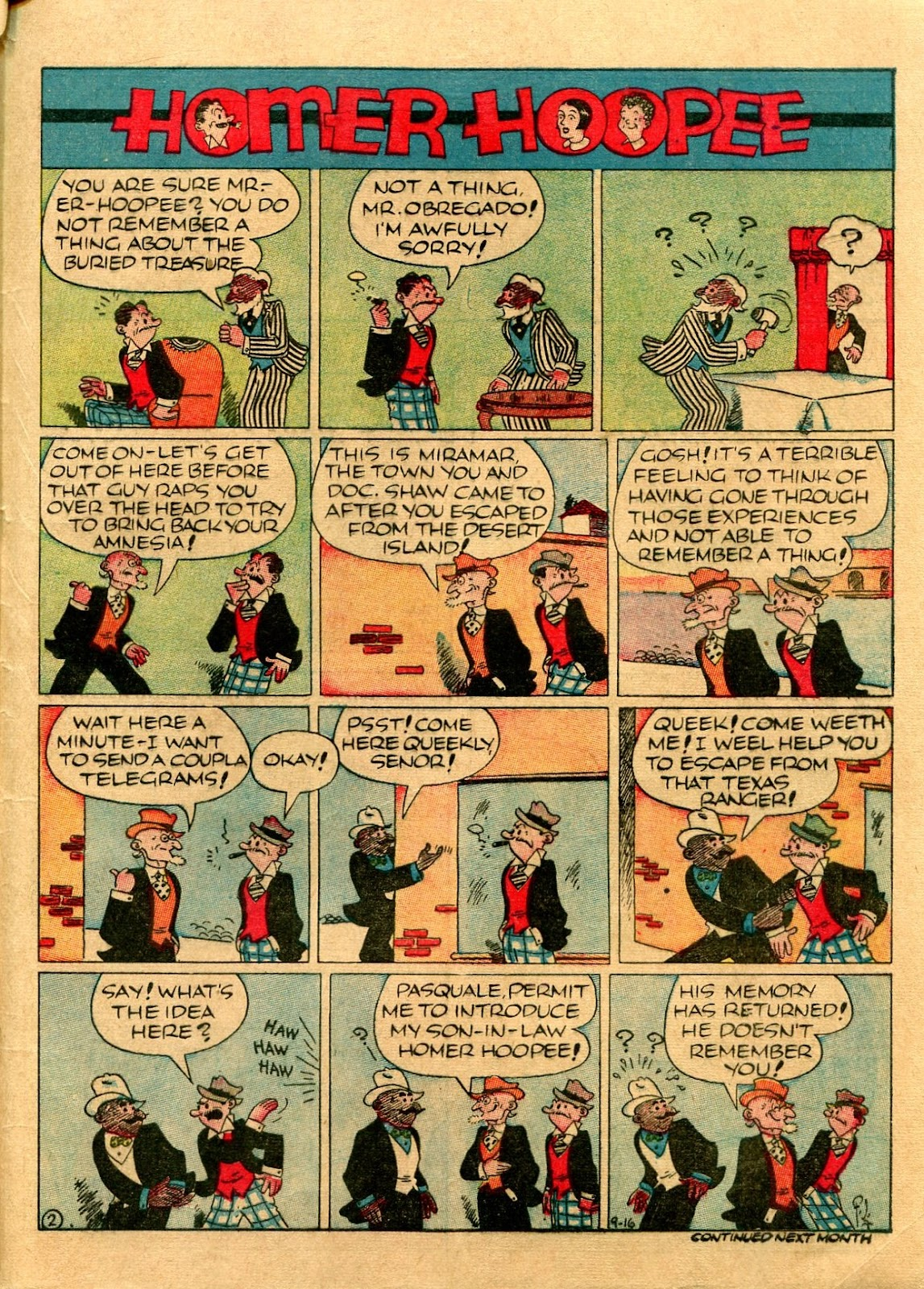Read online Famous Funnies comic -  Issue #56 - 63