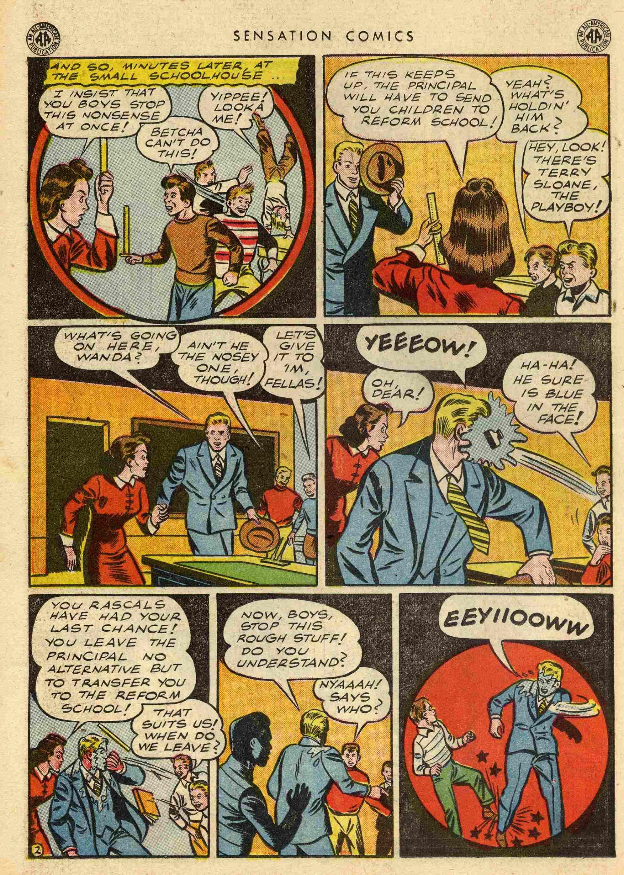 Read online Sensation (Mystery) Comics comic -  Issue #42 - 36