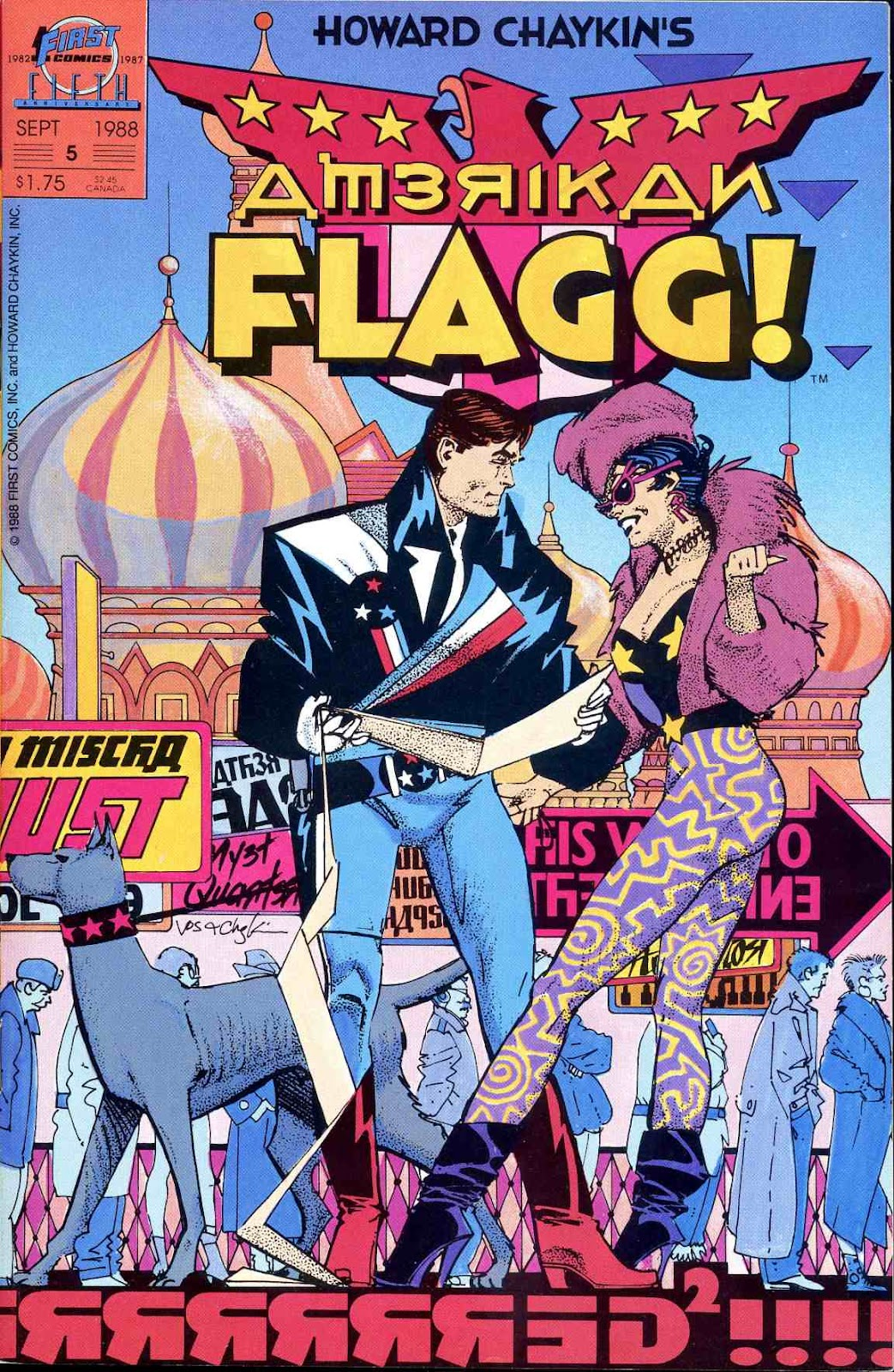 Howard Chaykins American Flagg issue 5 - Page 1