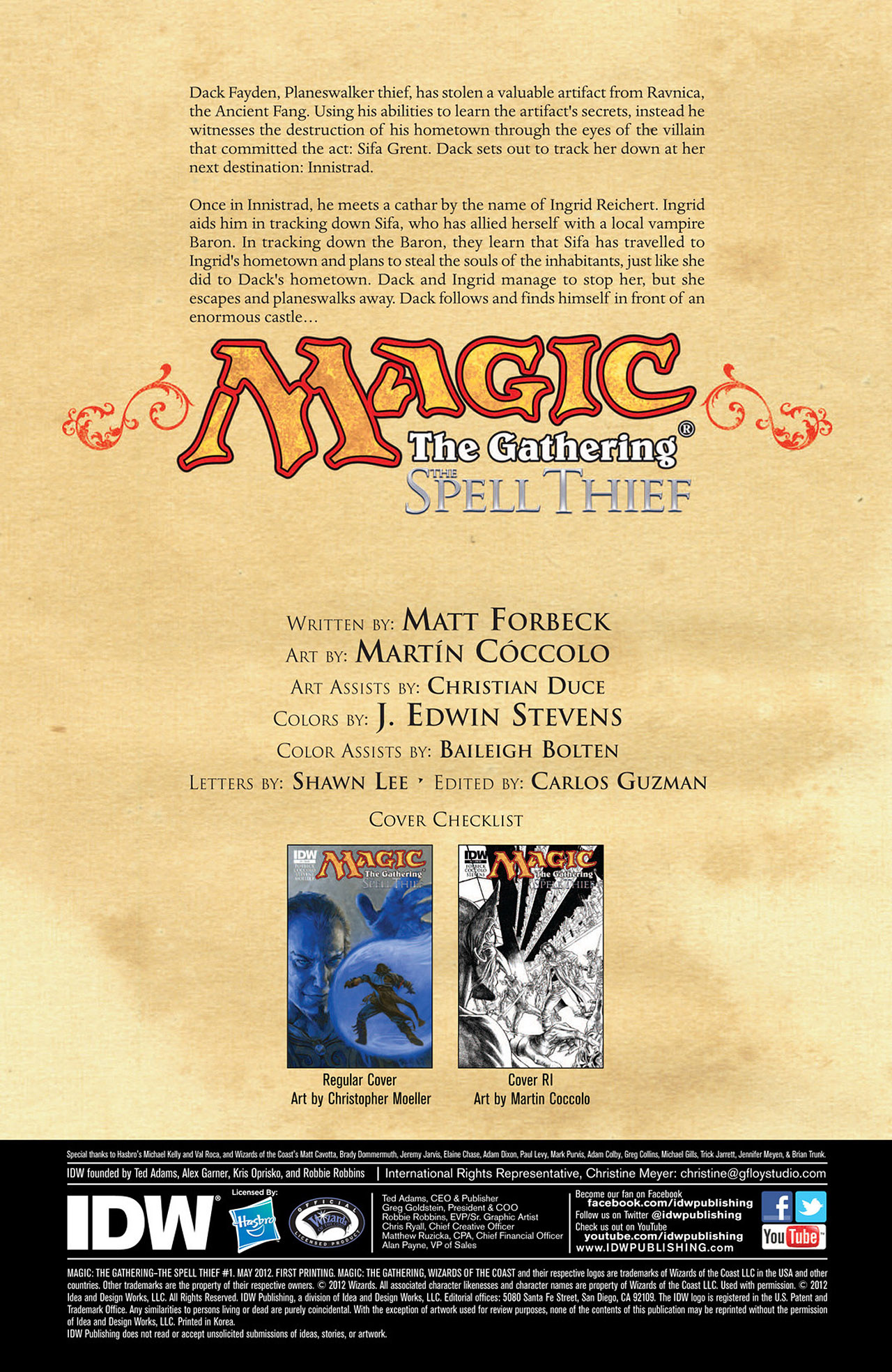 Magic: The Gathering - The Spell Thief 1 Page 2