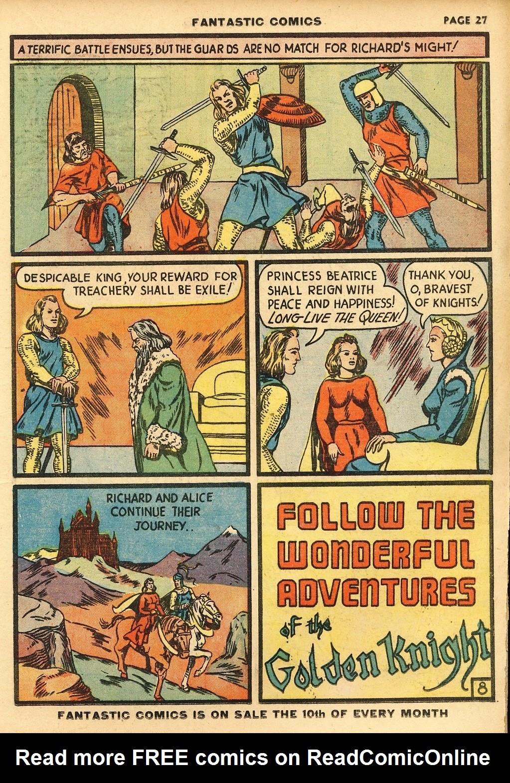 Read online Fantastic Comics comic -  Issue #10 - 28