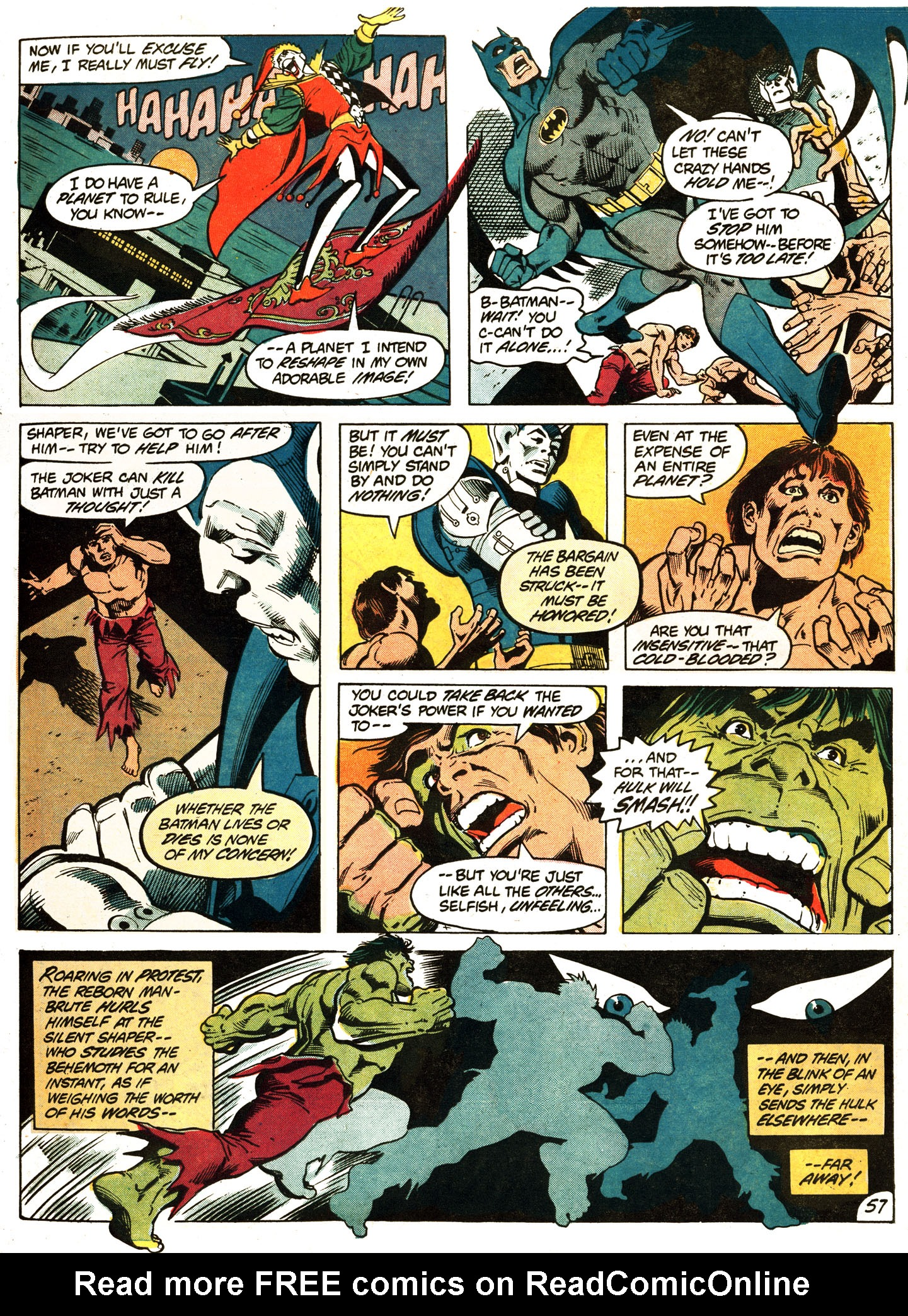 Read Batman Vs The Incredible Hulk Issue Full Online Page 59