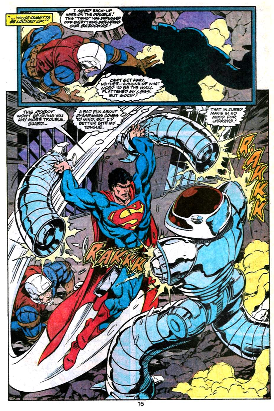 Read online Adventures of Superman (1987) comic -  Issue #486 - 16