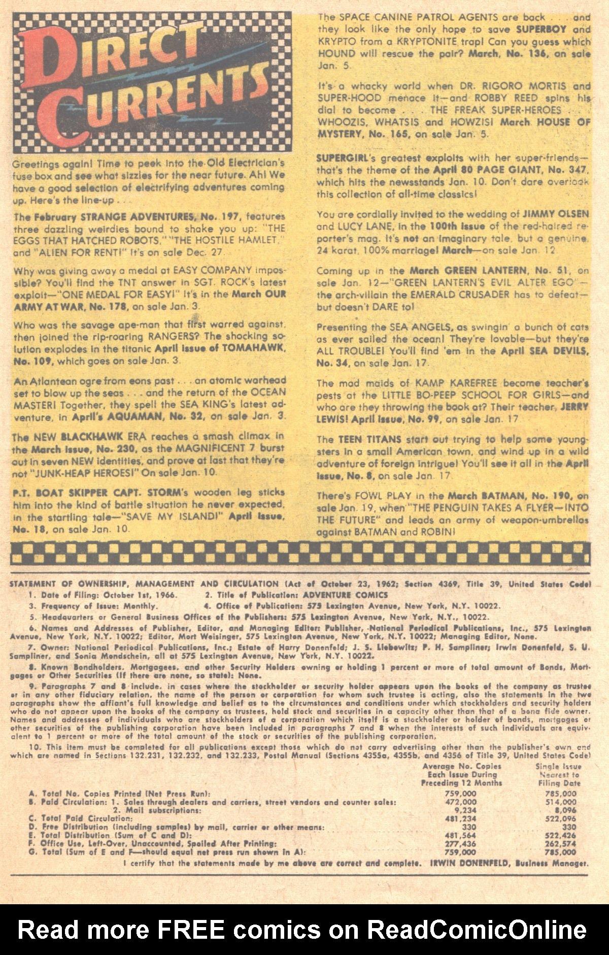 Read online Adventure Comics (1938) comic -  Issue #353 - 33