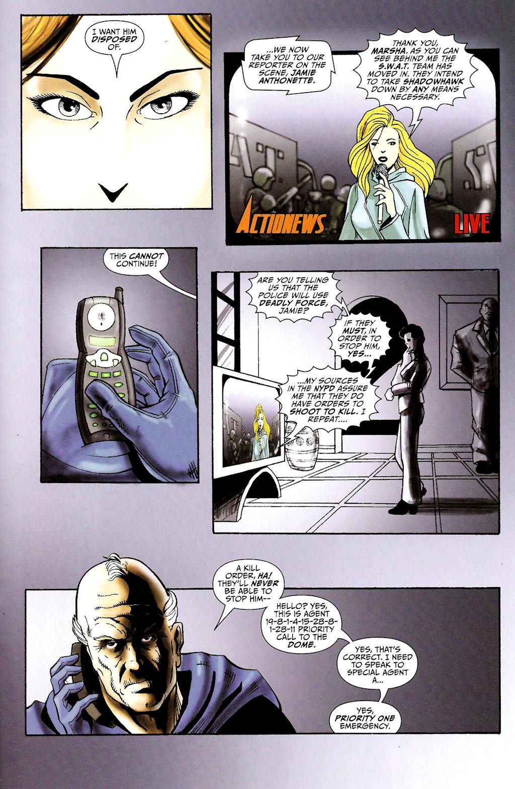 Read online ShadowHawk (2005) comic -  Issue #11 - 21