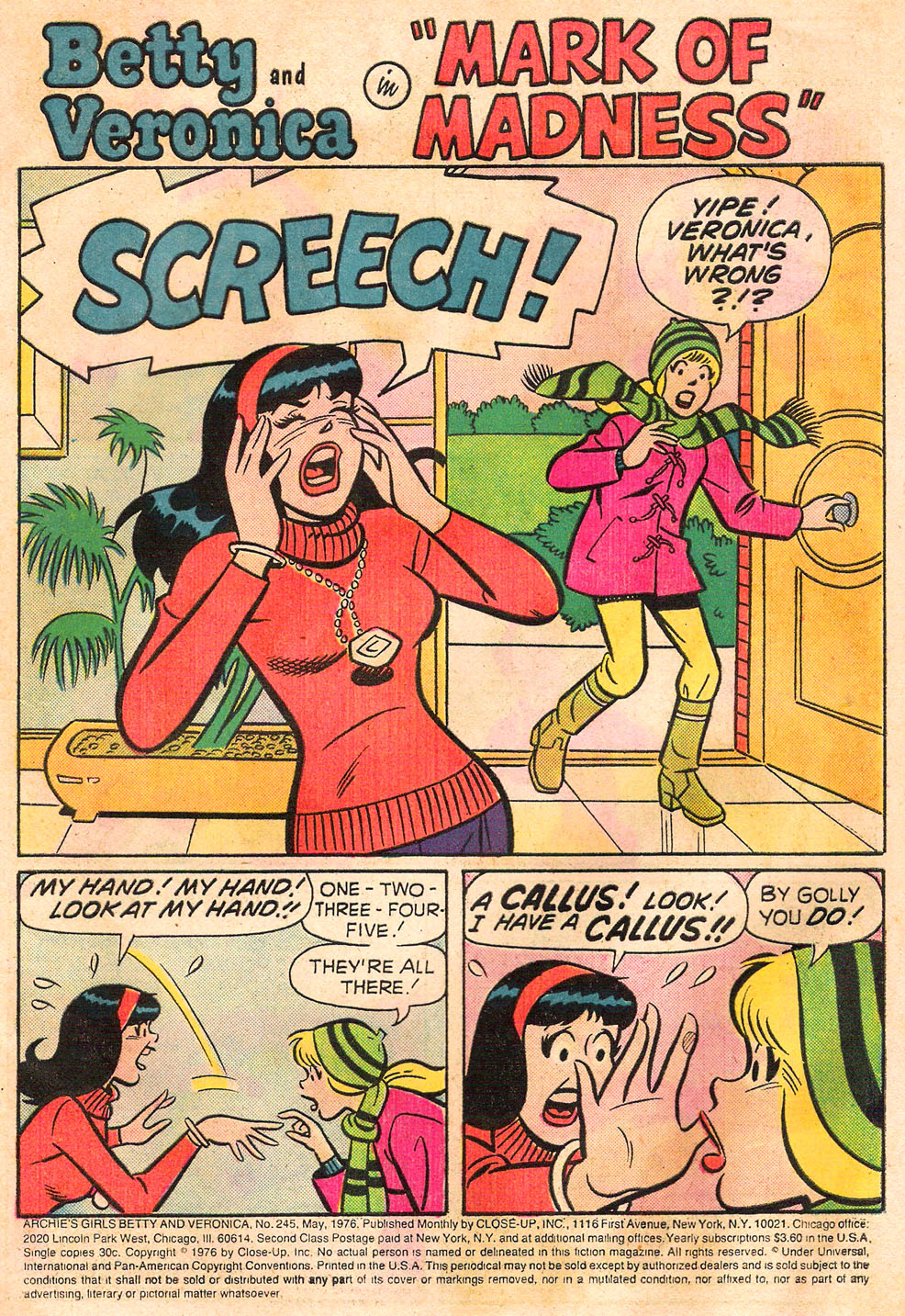 Read online Archie's Girls Betty and Veronica comic -  Issue #245 - 3
