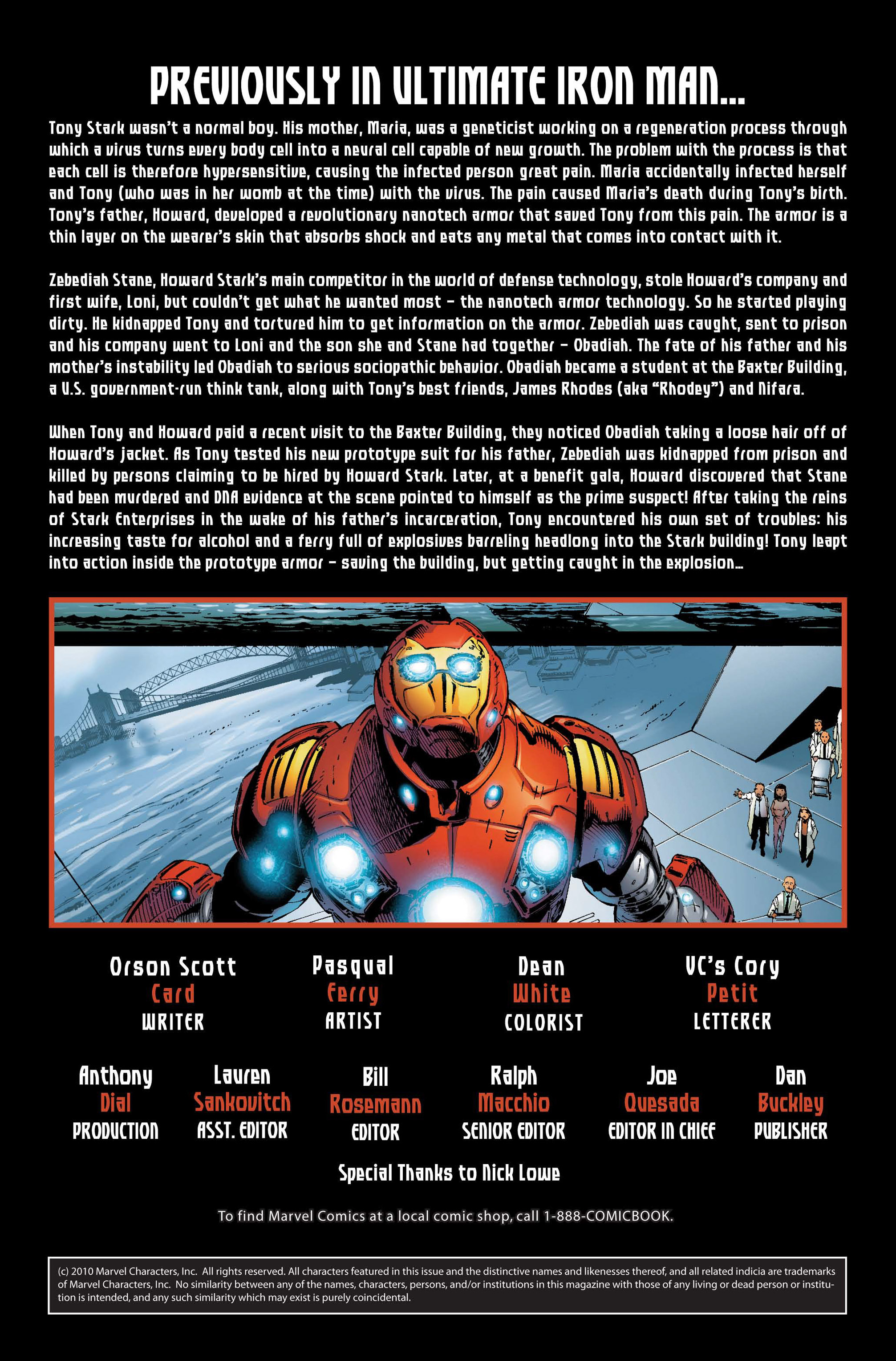 Read online Ultimate Iron Man II comic -  Issue #1 - 2