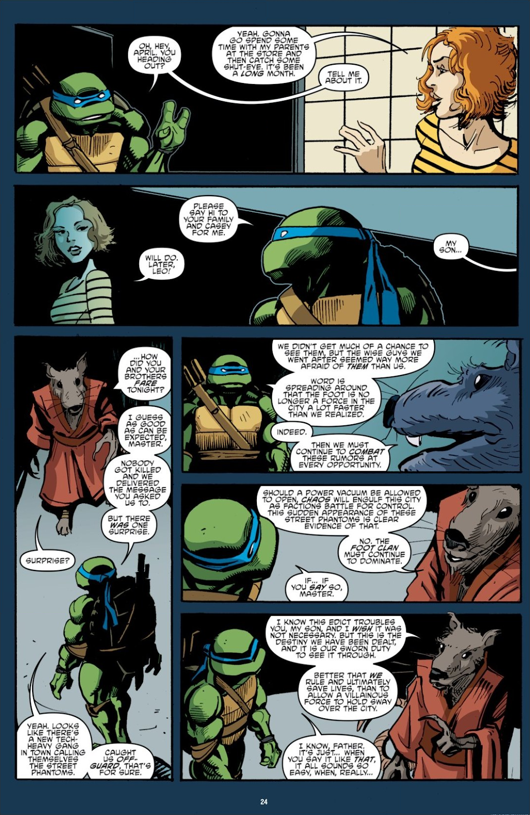 Read online Teenage Mutant Ninja Turtles: The IDW Collection comic -  Issue # TPB 7 (Part 1) - 24