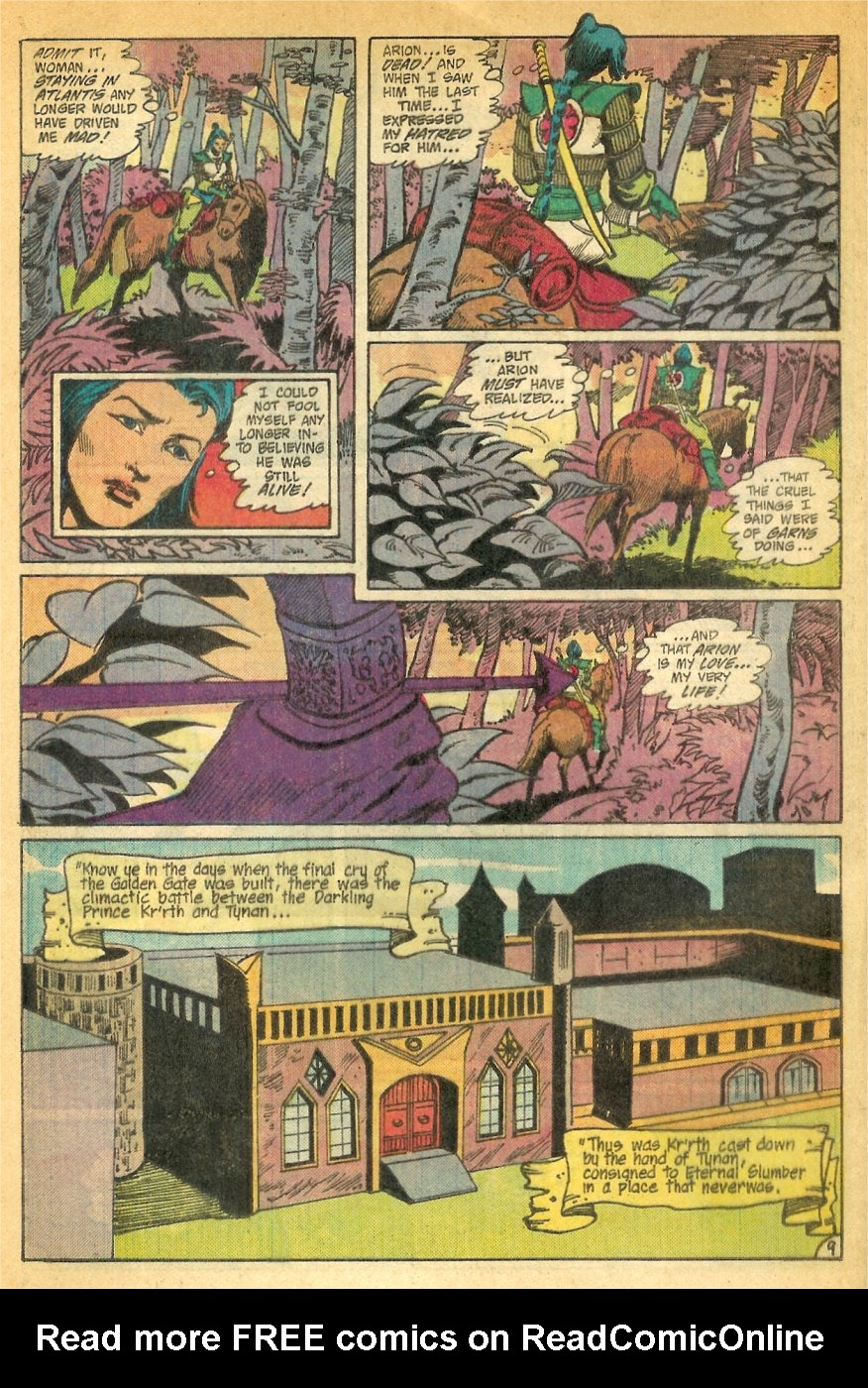 Read online Arion, Lord of Atlantis comic -  Issue #26 - 10