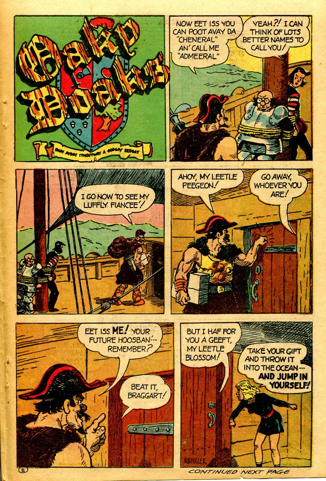 Read online Famous Funnies comic -  Issue #126 - 35