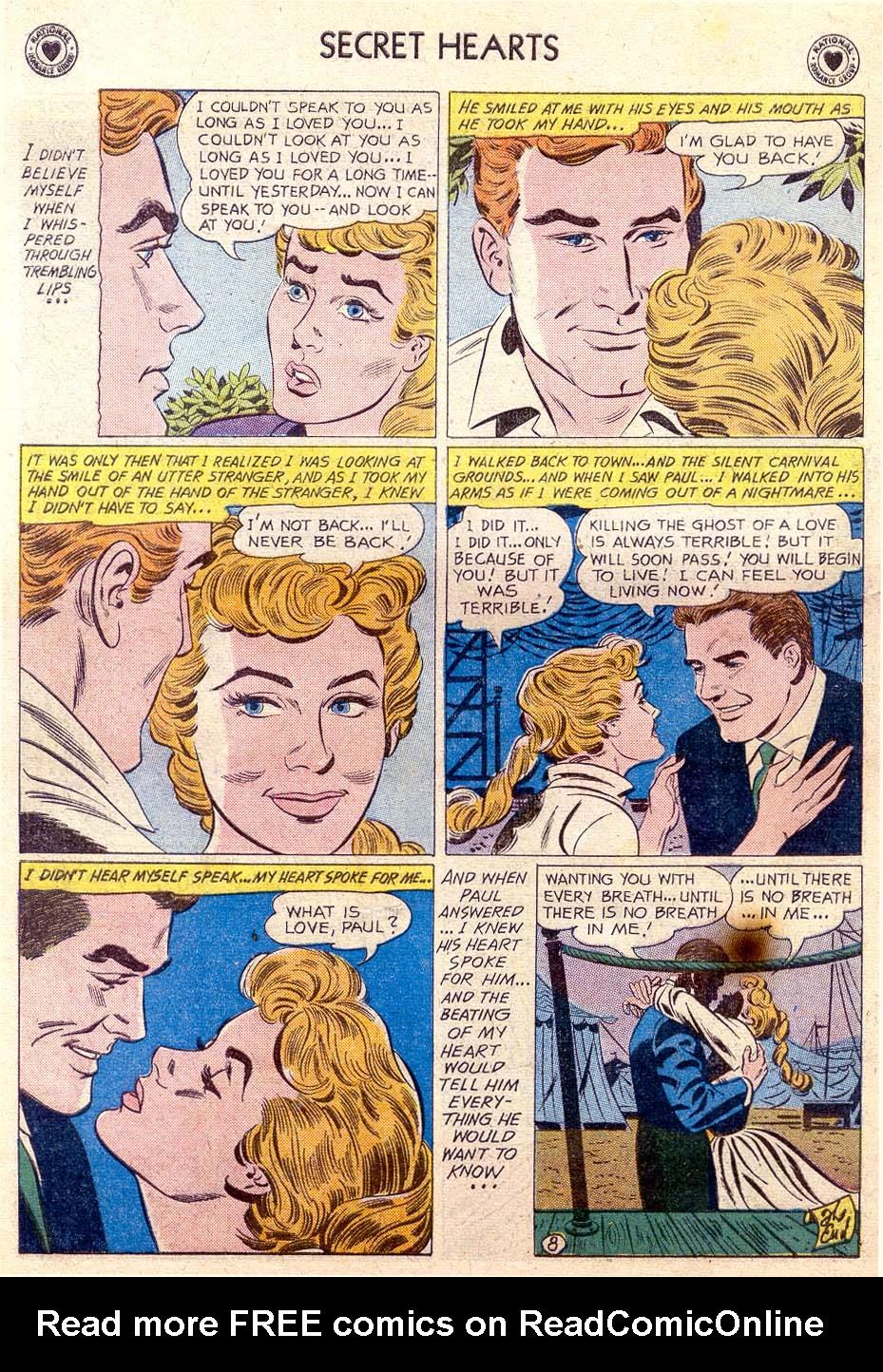 Read online Secret Hearts comic -  Issue #65 - 33