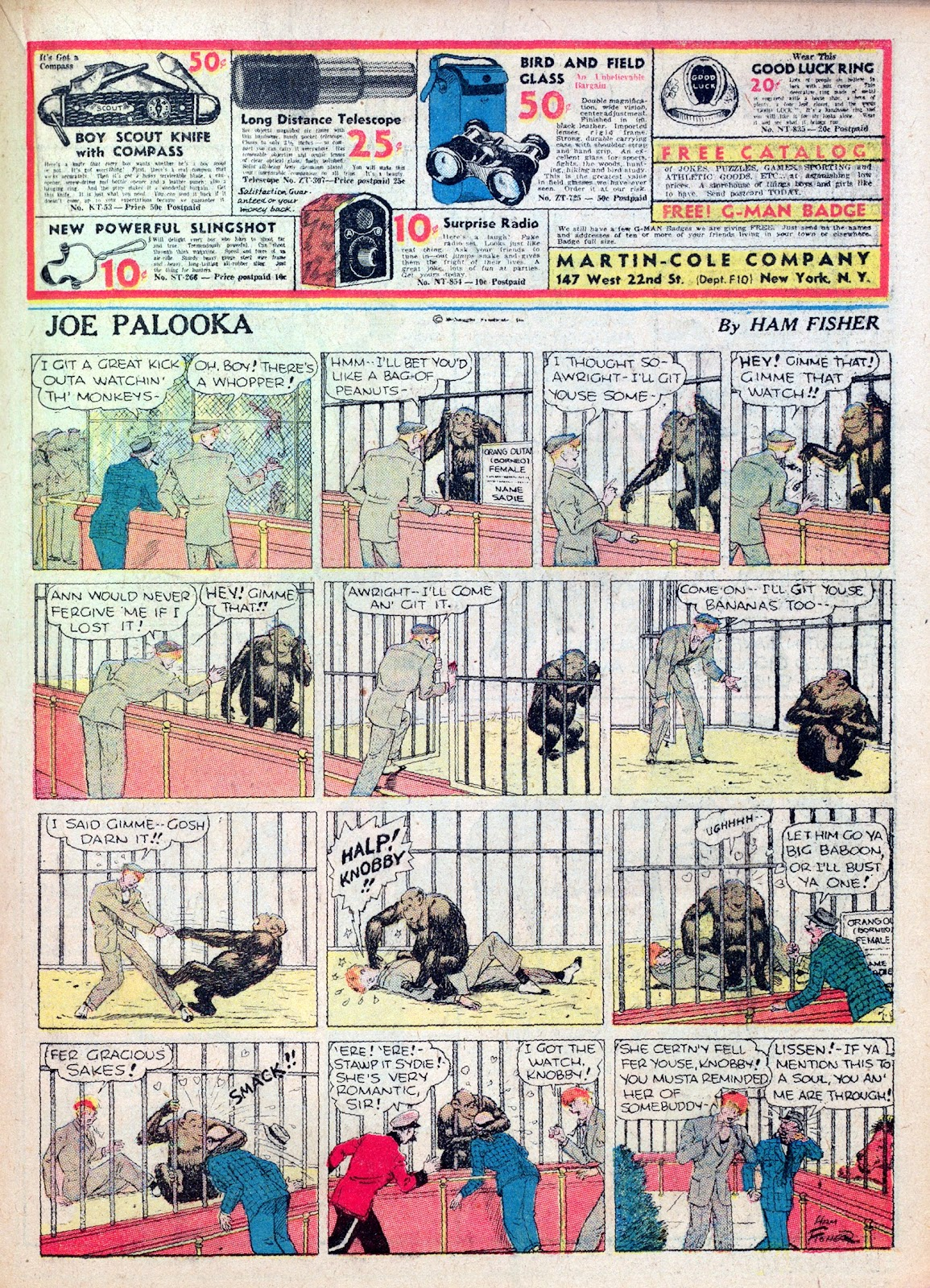 Read online Famous Funnies comic -  Issue #27 - 35