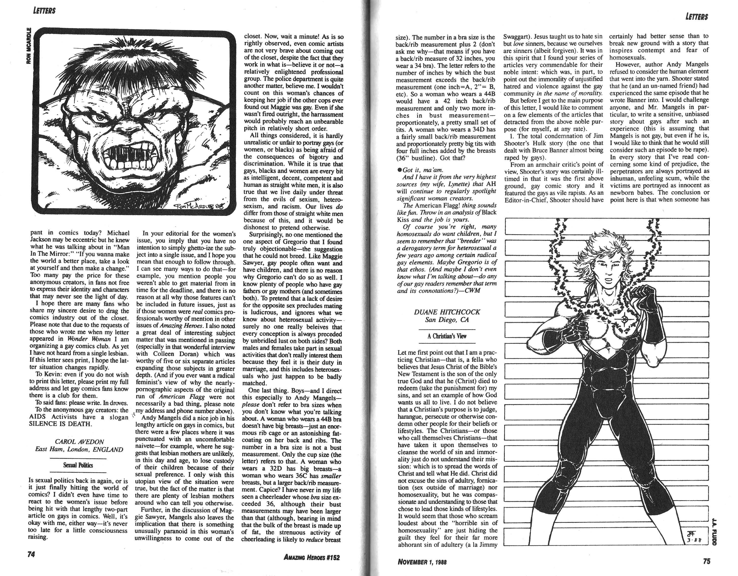 Read online Amazing Heroes comic -  Issue #152 - 46