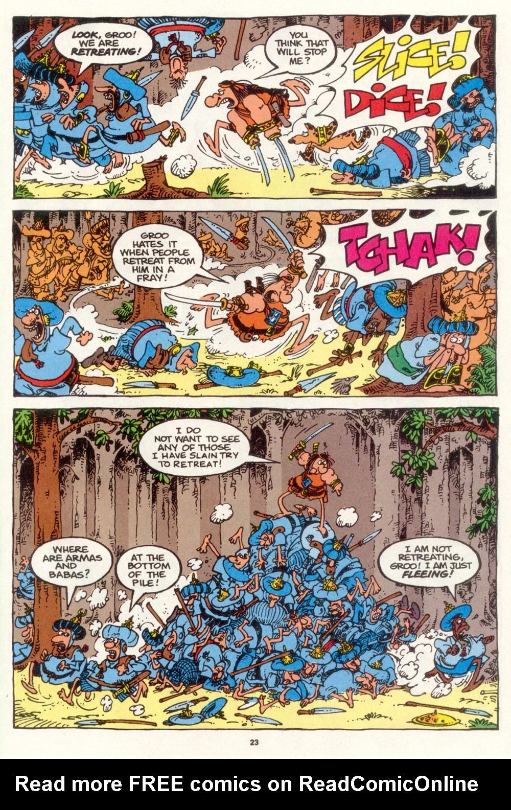 Read online Sergio Aragonés Groo the Wanderer comic -  Issue #109 - 25