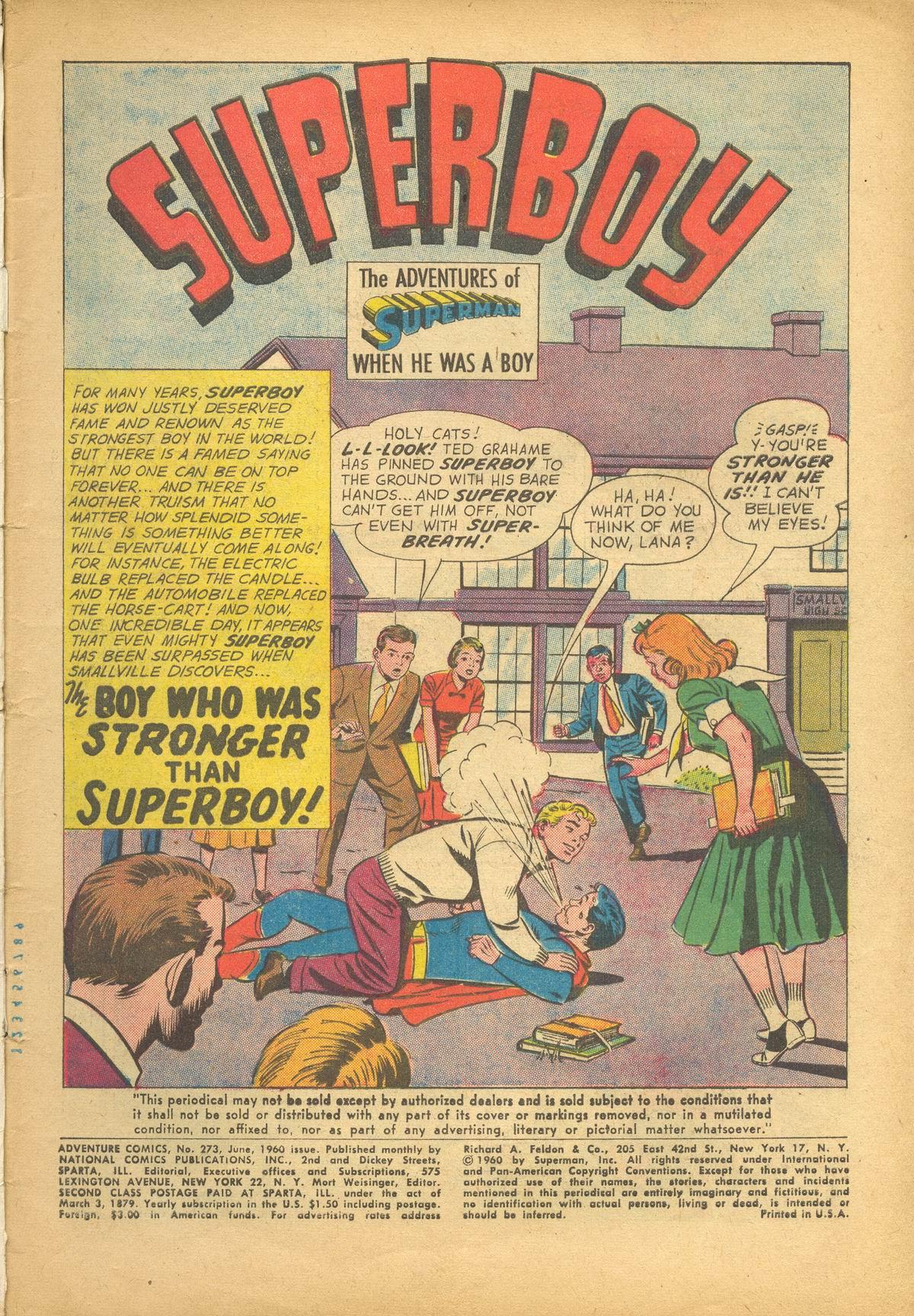 Read online Adventure Comics (1938) comic -  Issue #273 - 3