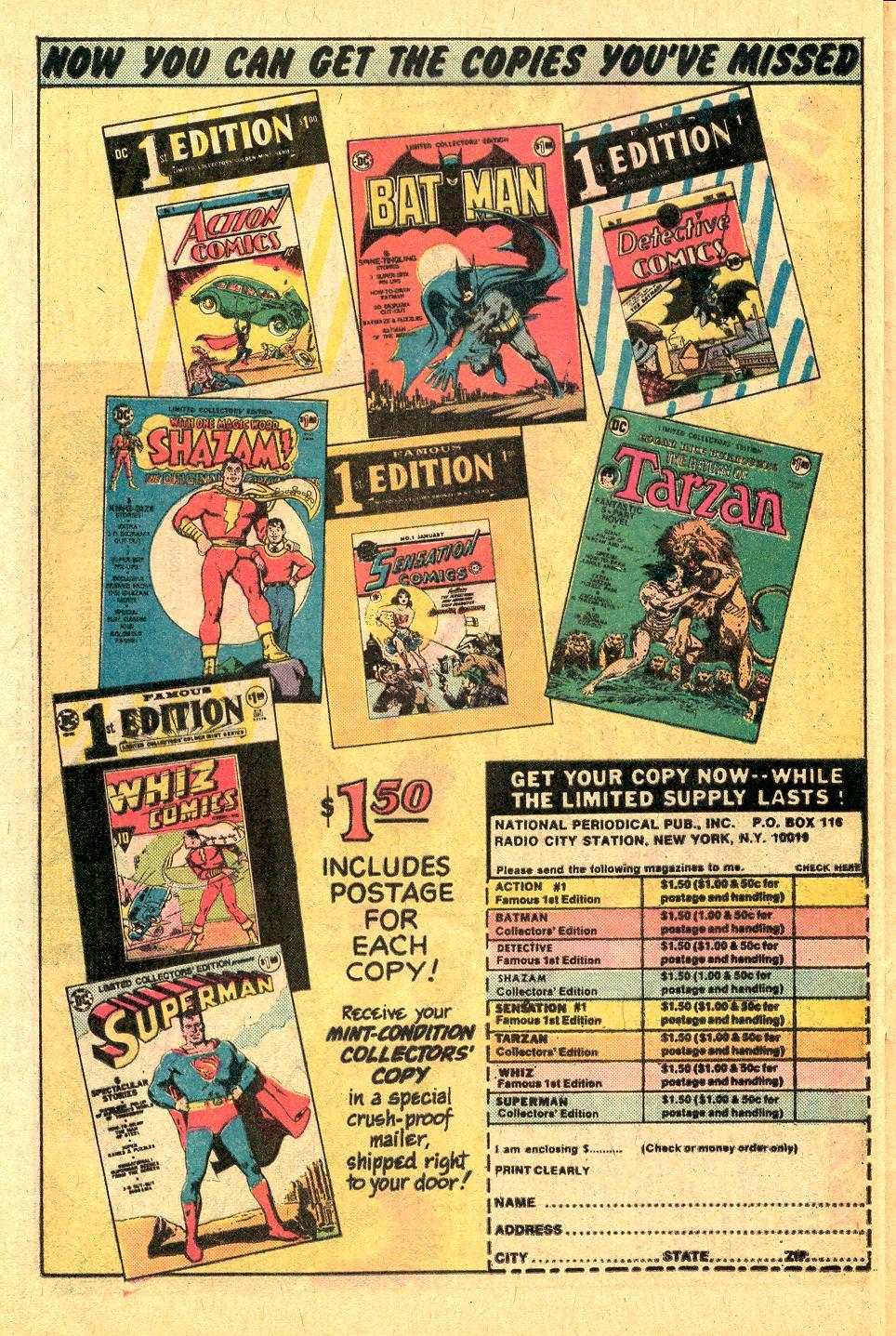 Read online Secret Origins (1973) comic -  Issue #7 - 23