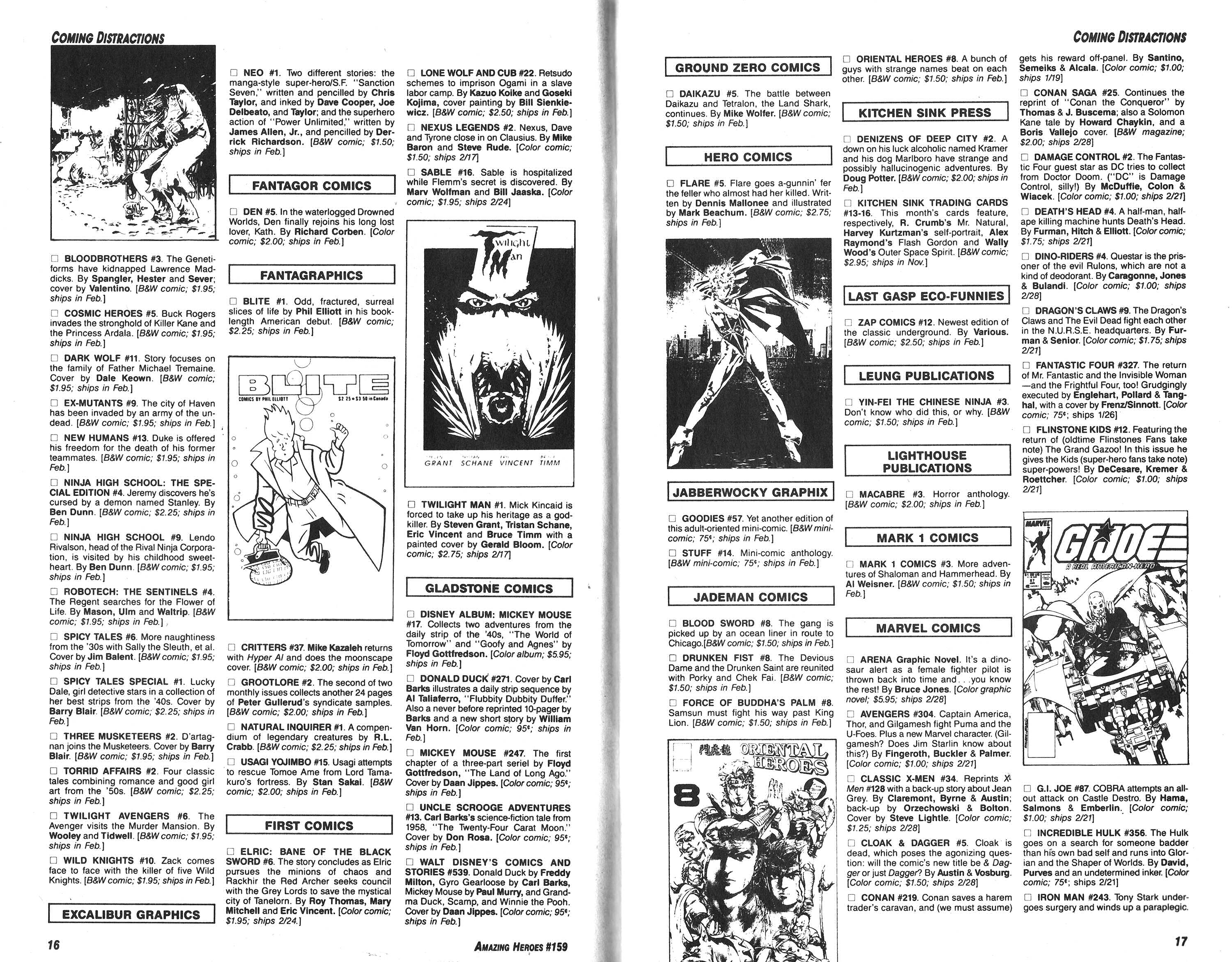 Read online Amazing Heroes comic -  Issue #159 - 9