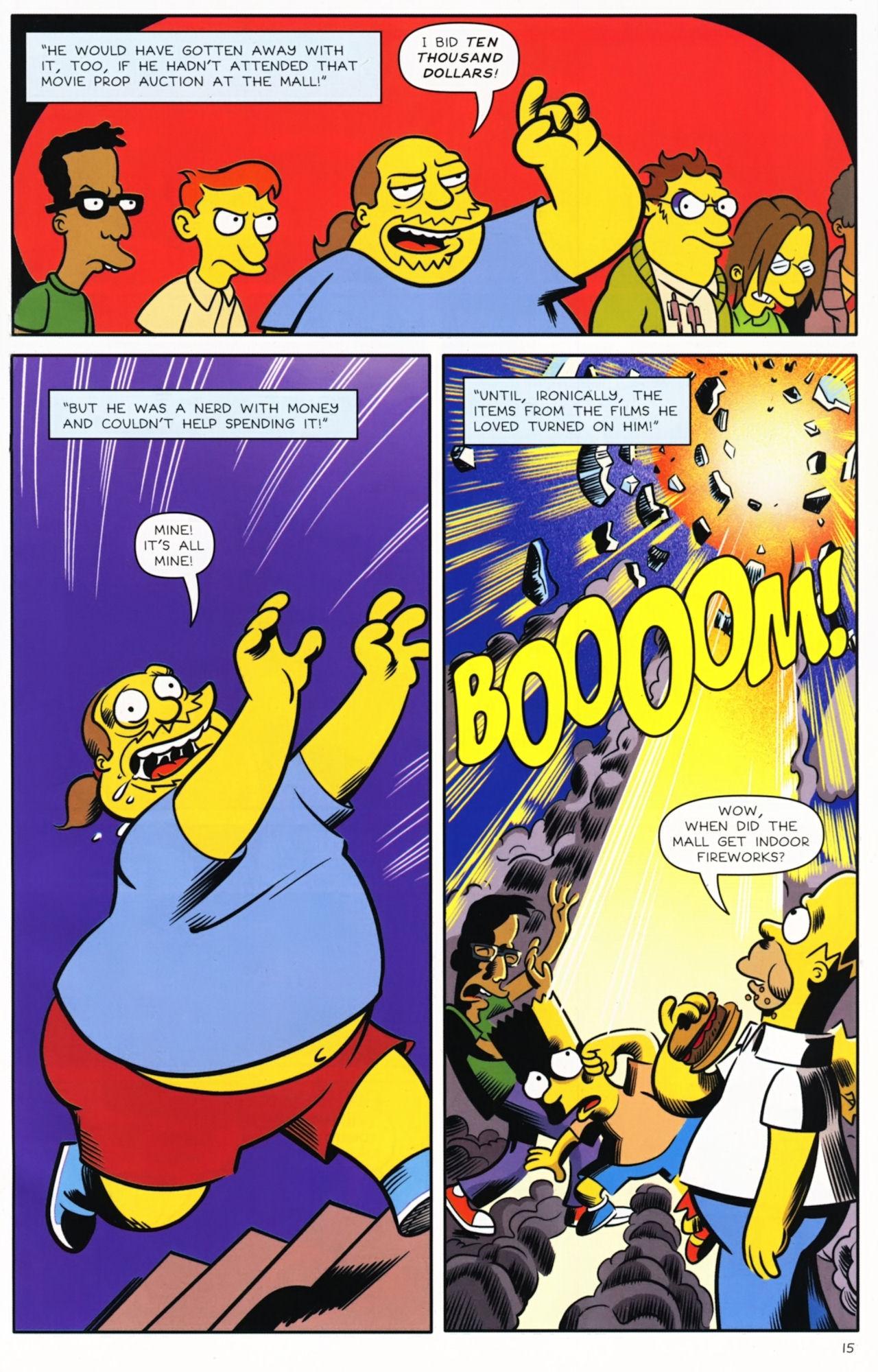 Read online Bongo Comics presents Comic Book Guy: The Comic Book comic -  Issue #5 - 17
