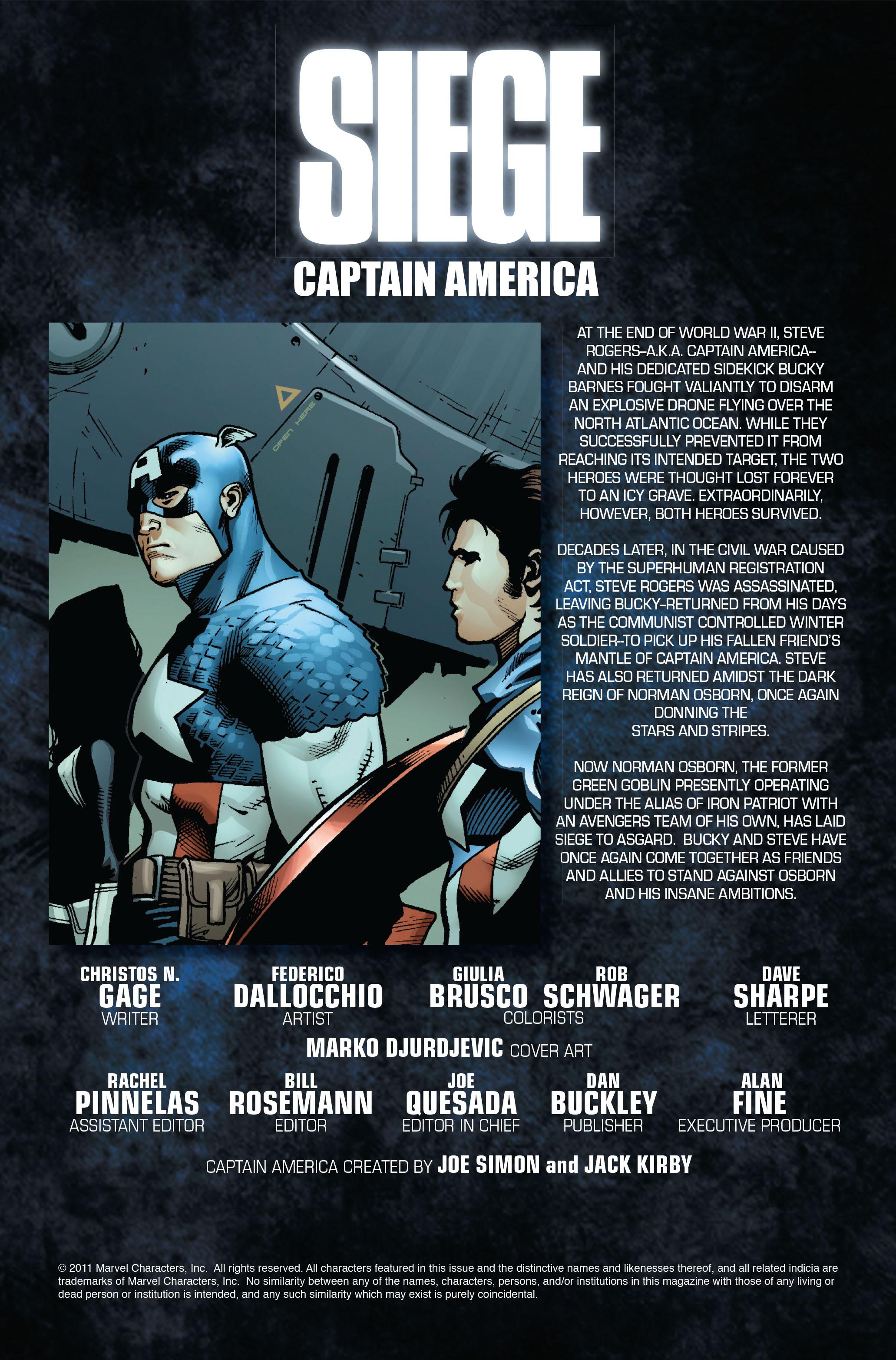Read online Siege: Captain America comic -  Issue # Full - 2