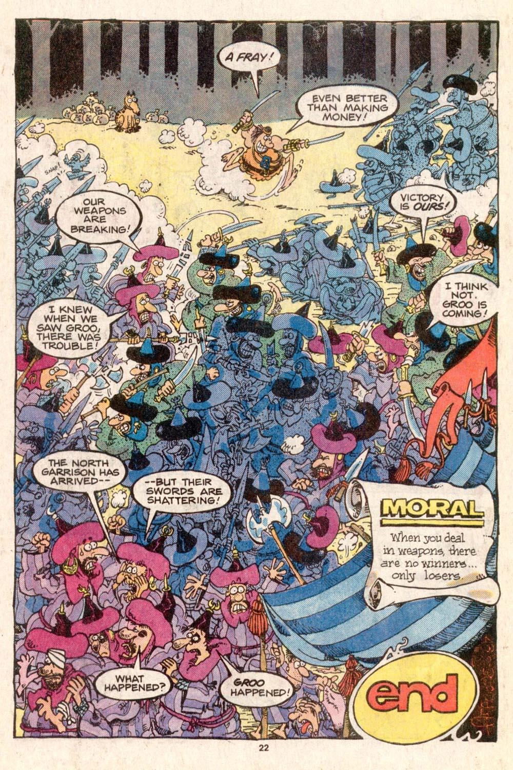 Read online Sergio Aragonés Groo the Wanderer comic -  Issue #31 - 22