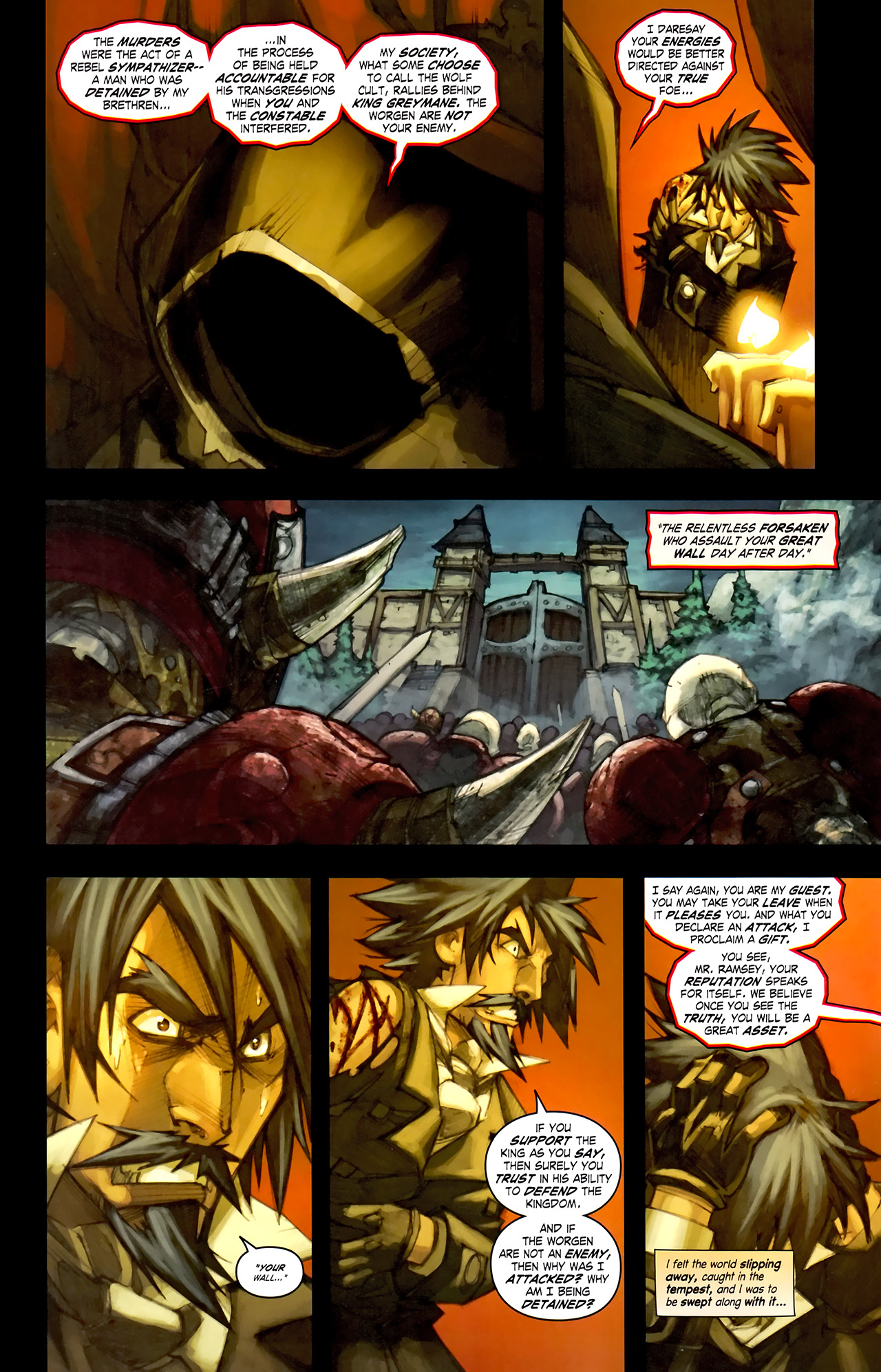 Read online World of Warcraft: Curse of the Worgen comic -  Issue #1 - 18