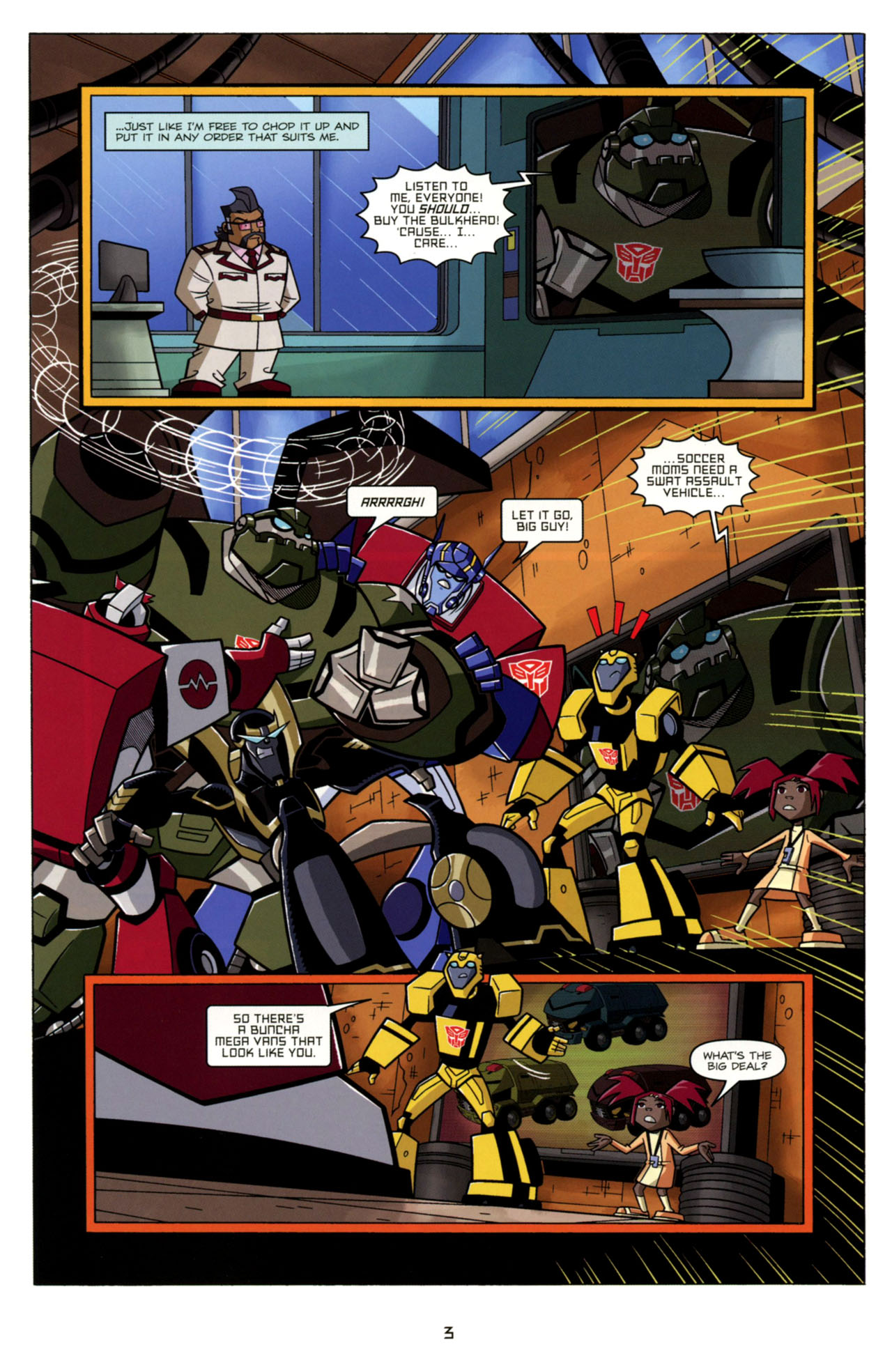 Read online Transformers Animated: The Arrival comic -  Issue #4 - 6