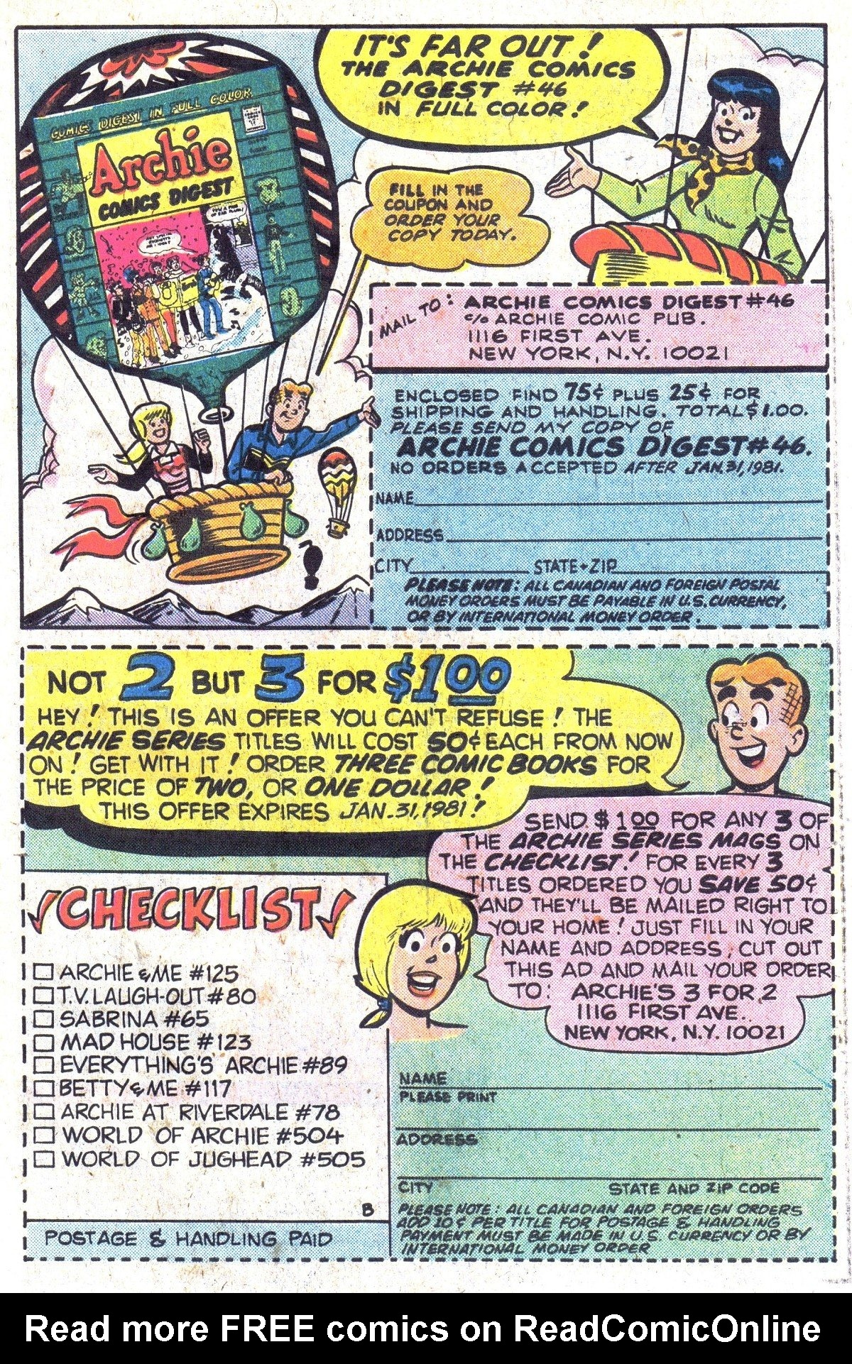 Read online Archie (1960) comic -  Issue #300 - 27