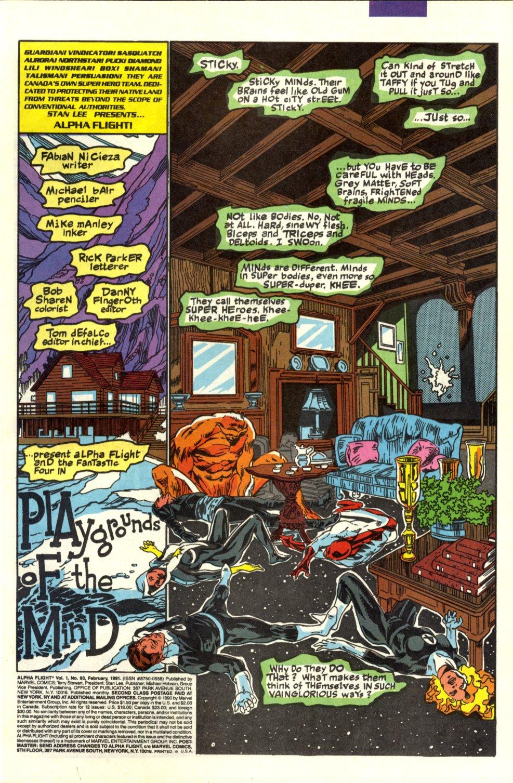 Read online Alpha Flight (1983) comic -  Issue #93 - 2