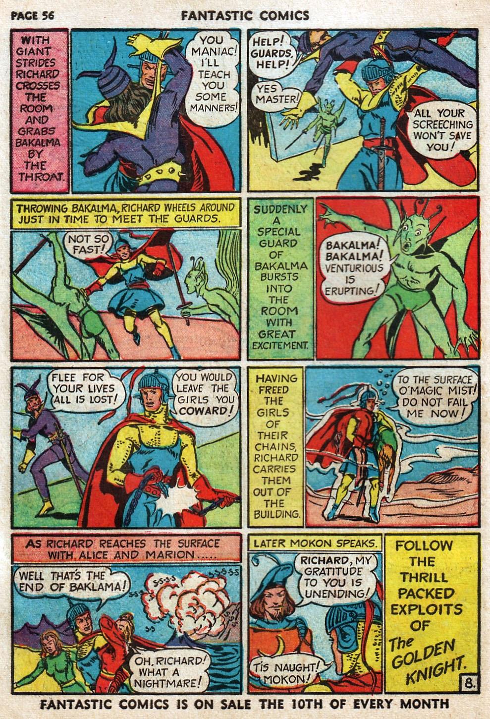 Read online Fantastic Comics comic -  Issue #17 - 57