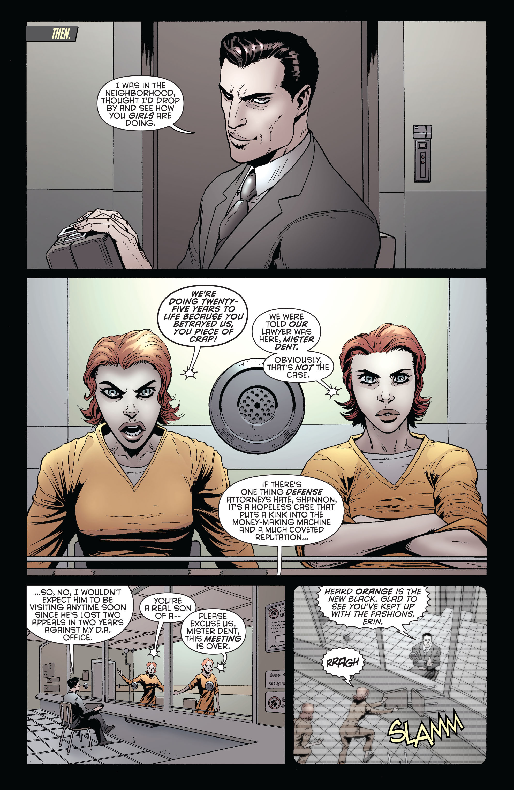 Read online Batman and Robin (2011) comic -  Issue #26 - Batman and Two-Face - 7