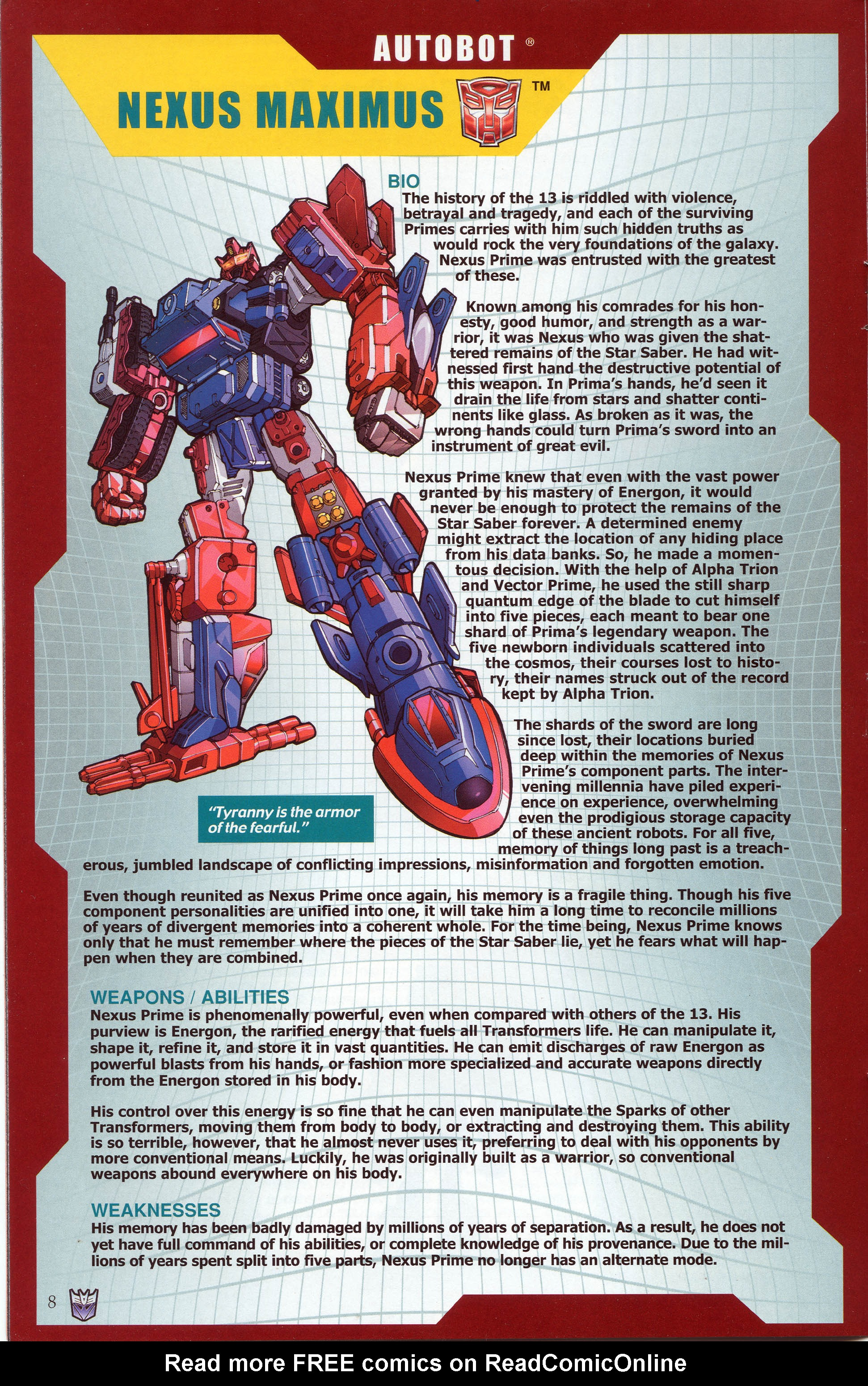Read online Transformers: Collectors' Club comic -  Issue #30 - 8