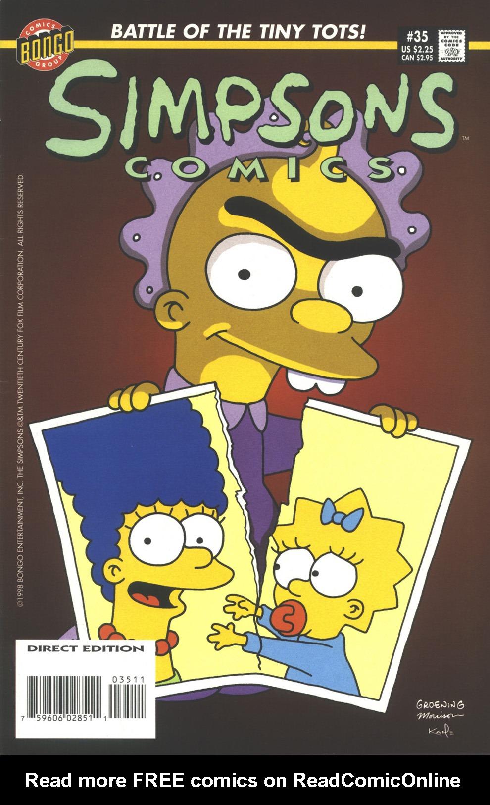 Read online Simpsons Comics comic -  Issue #35 - 1