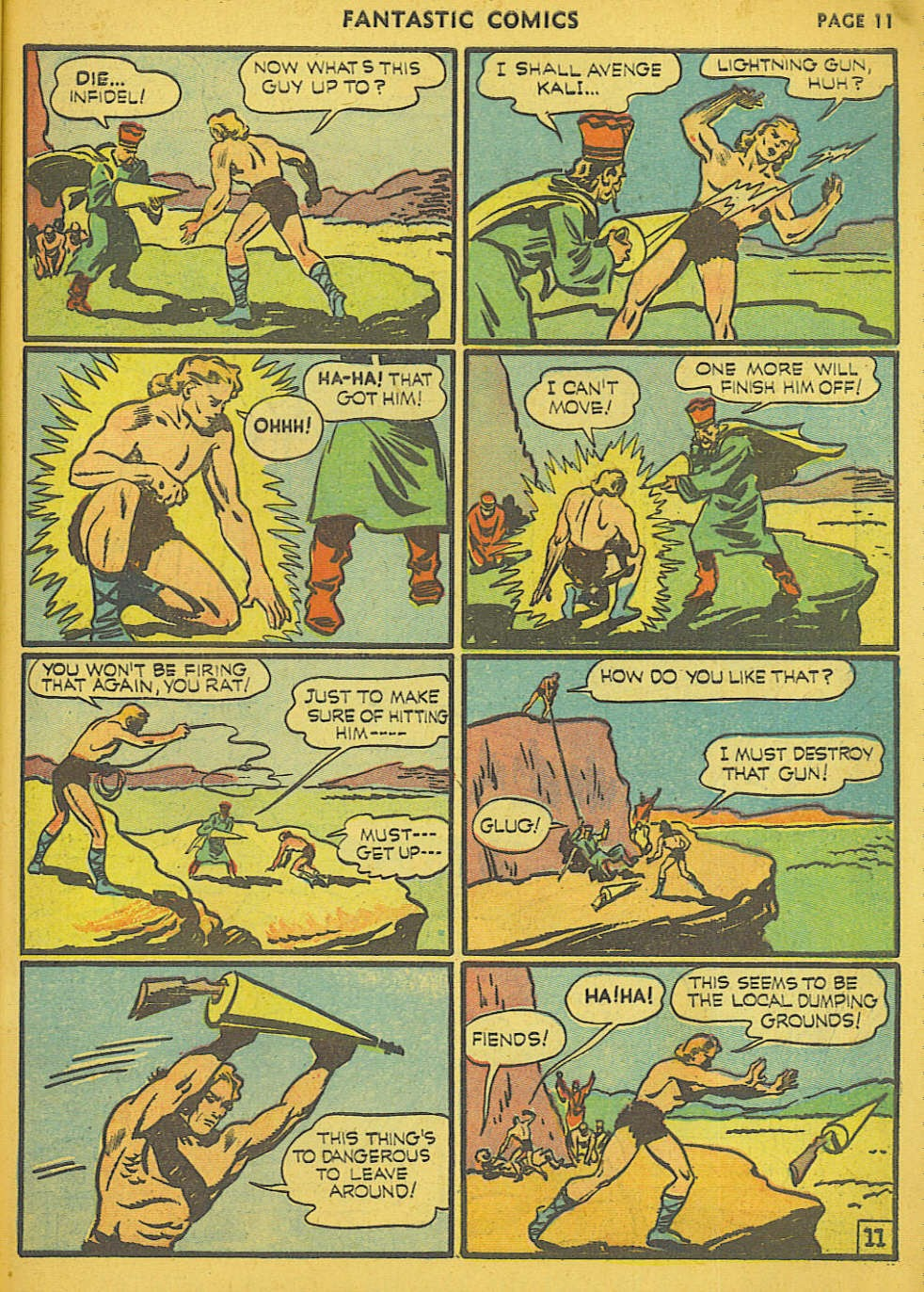 Read online Fantastic Comics comic -  Issue #15 - 4