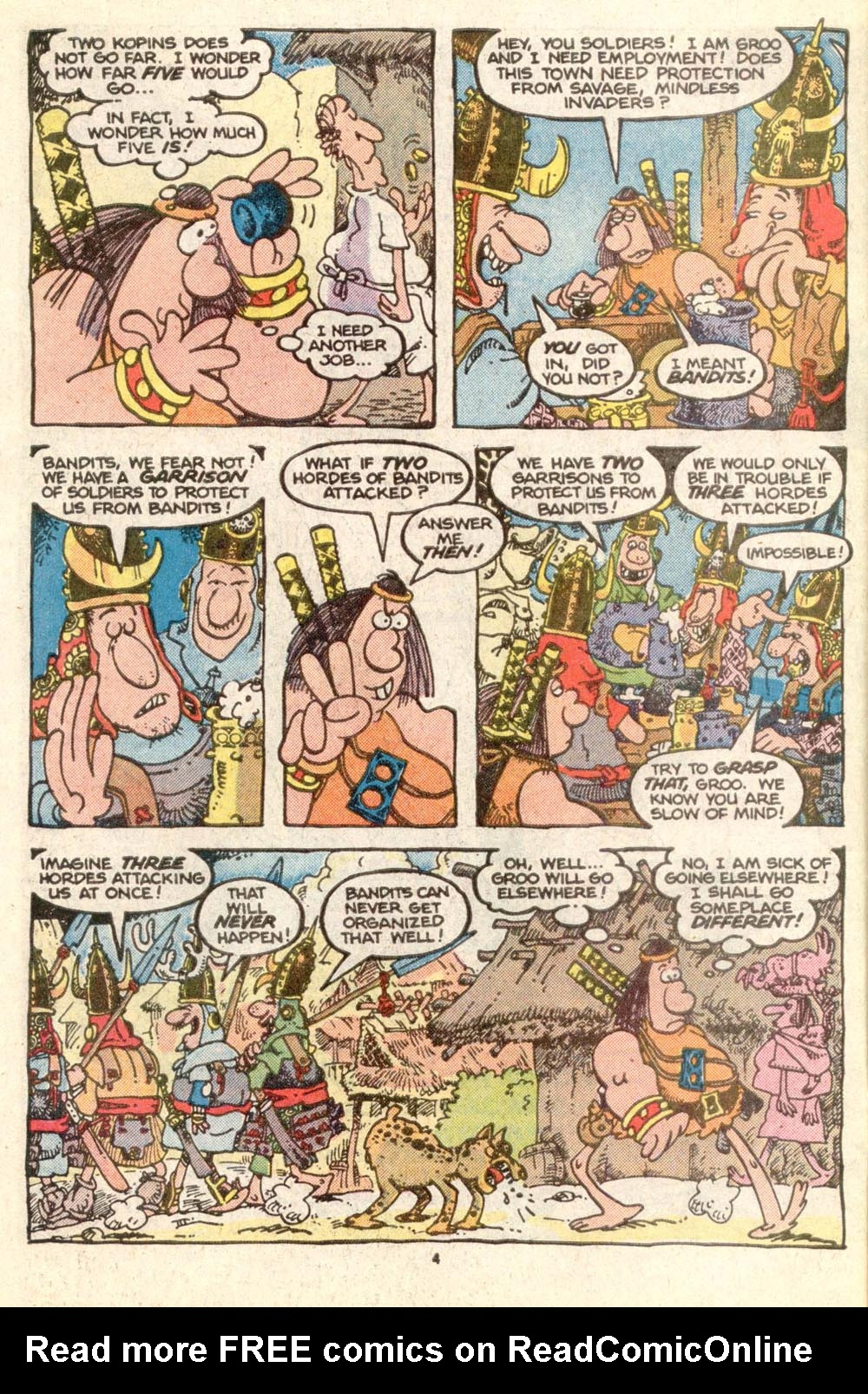 Read online Sergio Aragonés Groo the Wanderer comic -  Issue #25 - 4
