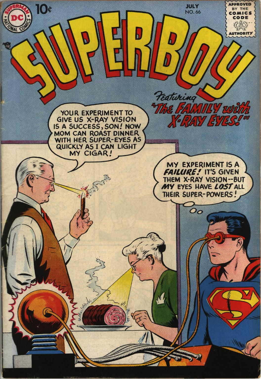 Superboy (1949) issue 66 - Page 1