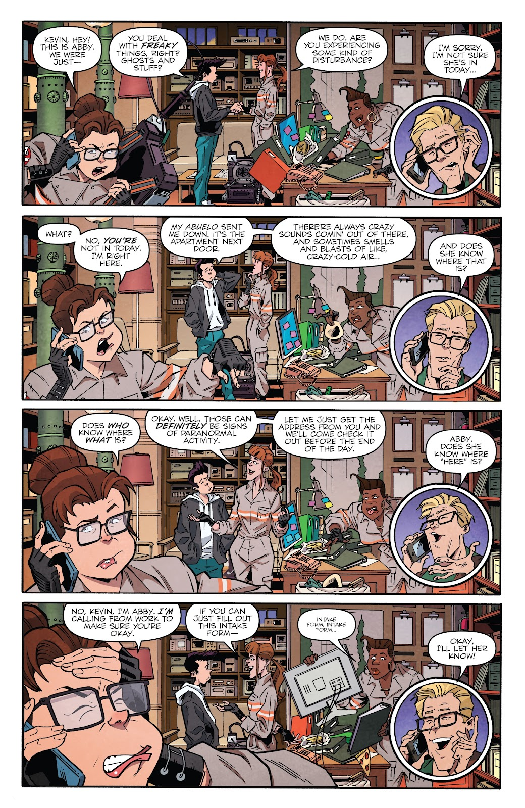 Read online Answer the Call Ghostbusters 35th Anniversary comic -  Issue # Full - 8