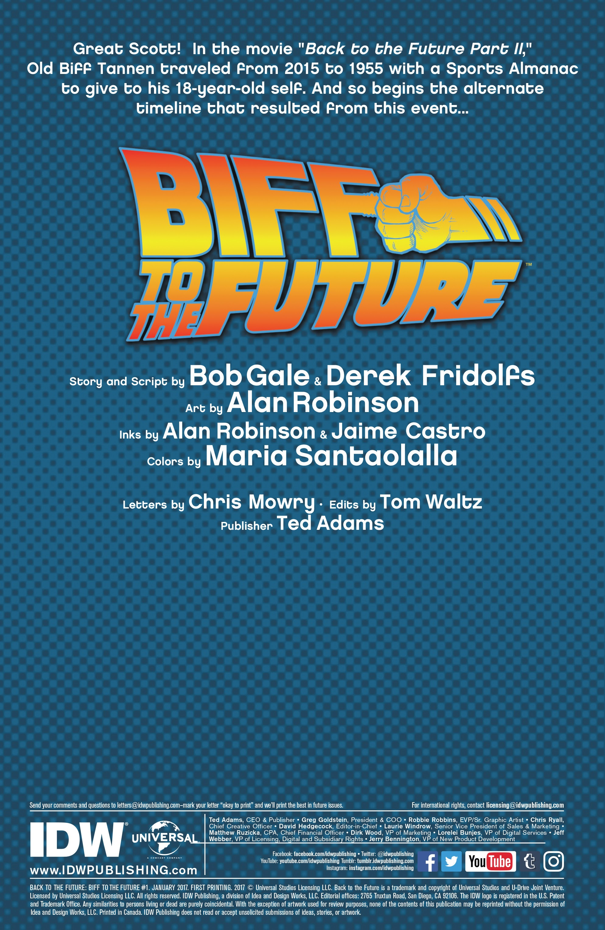 Read online Back to the Future: Biff to the Future comic -  Issue #1 - 2