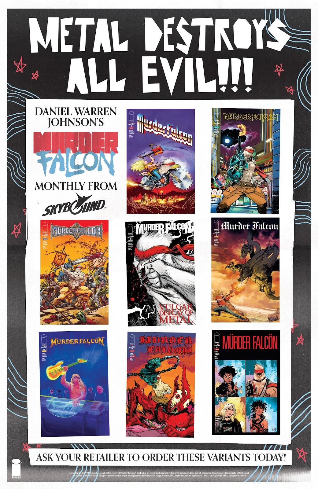 Read online Murder Falcon comic -  Issue #6 - 29