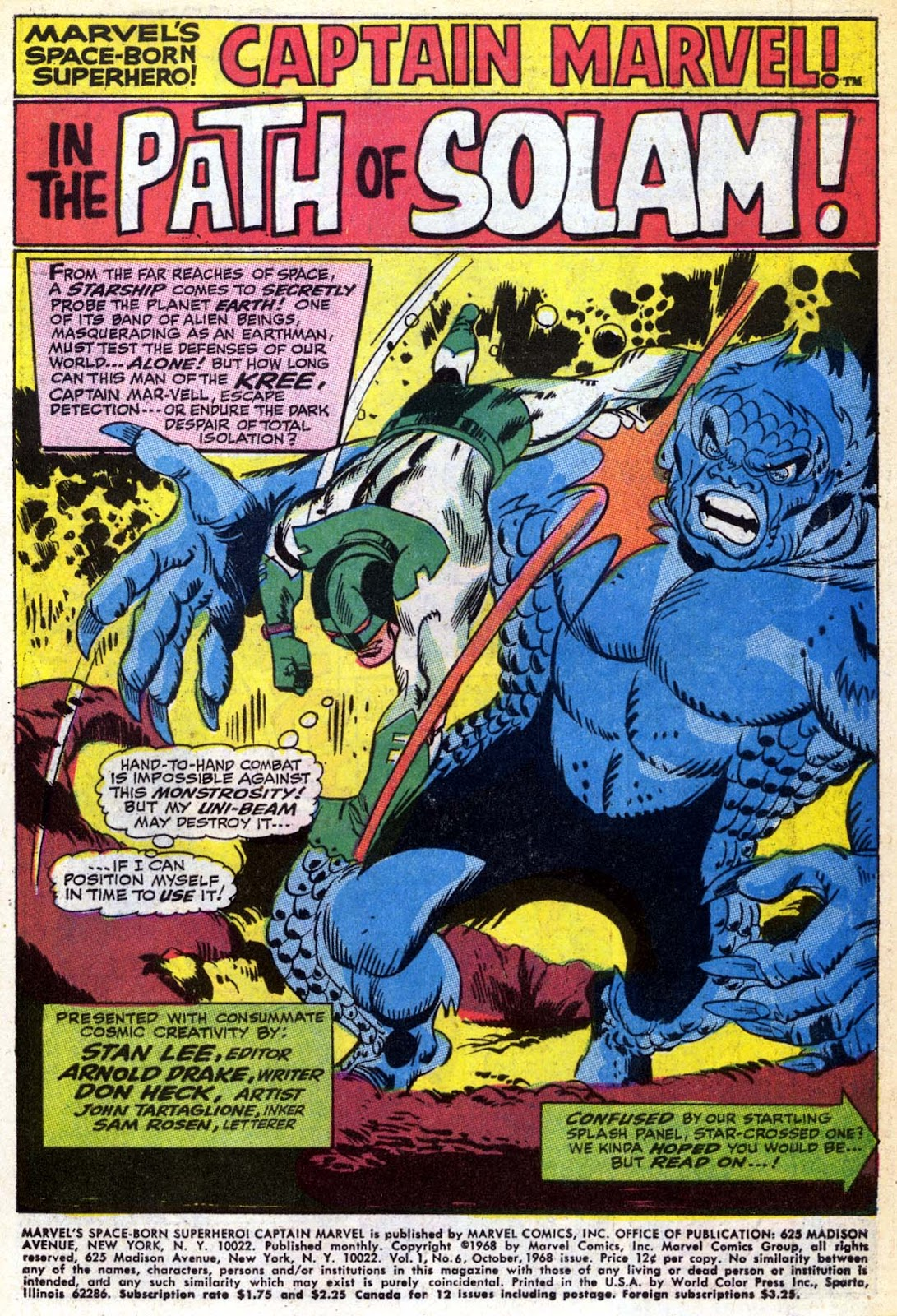 Captain Marvel (1968) Issue #6 #6 - English 2
