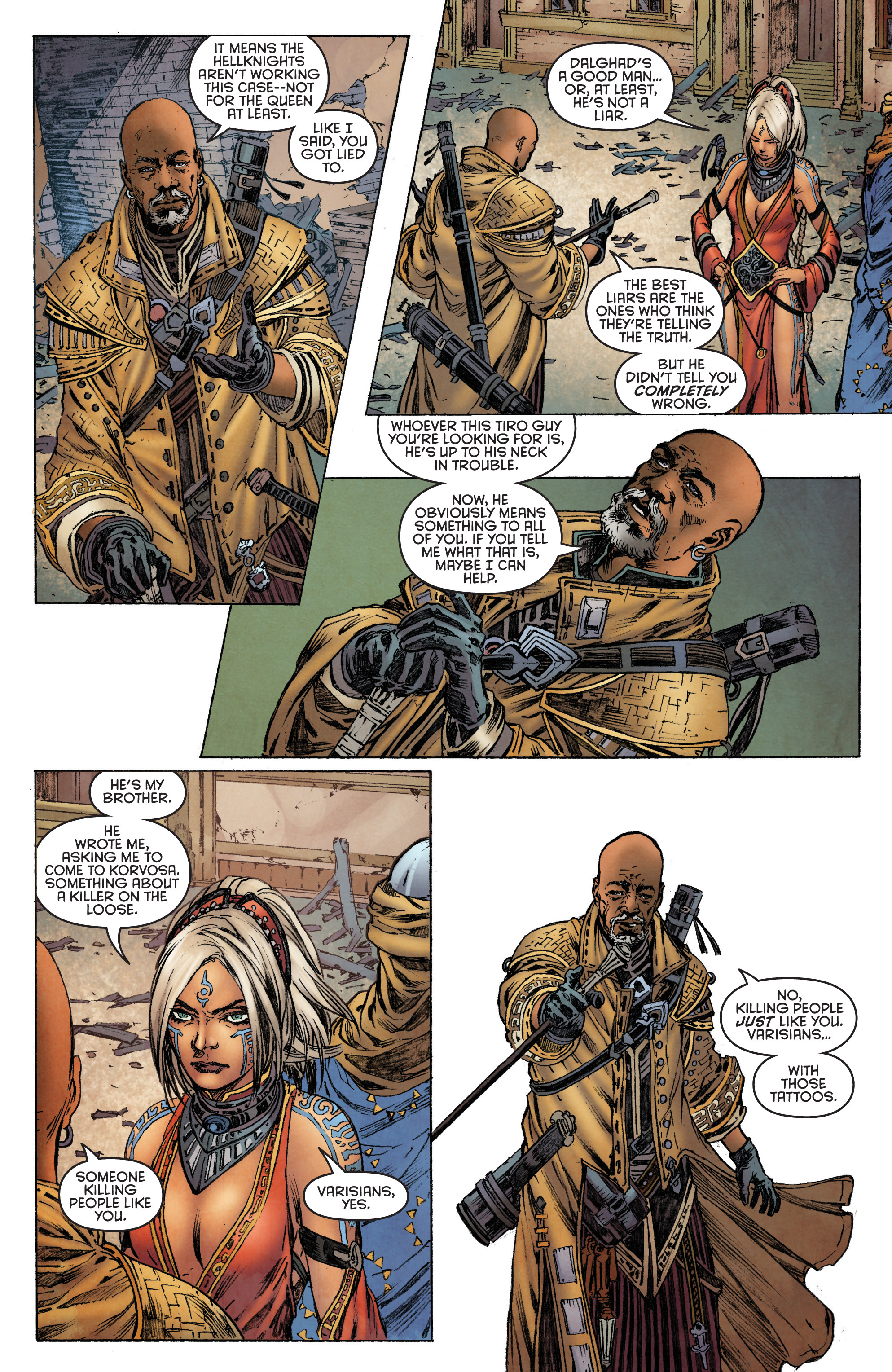 Read online Pathfinder: Runescars comic -  Issue #1 - 14