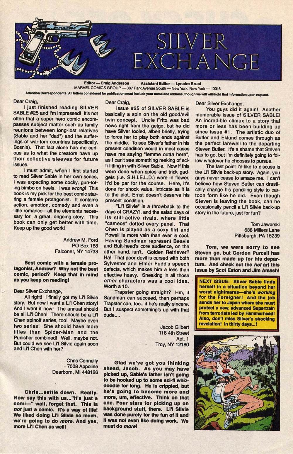 Read online Silver Sable and the Wild Pack comic -  Issue #30 - 24