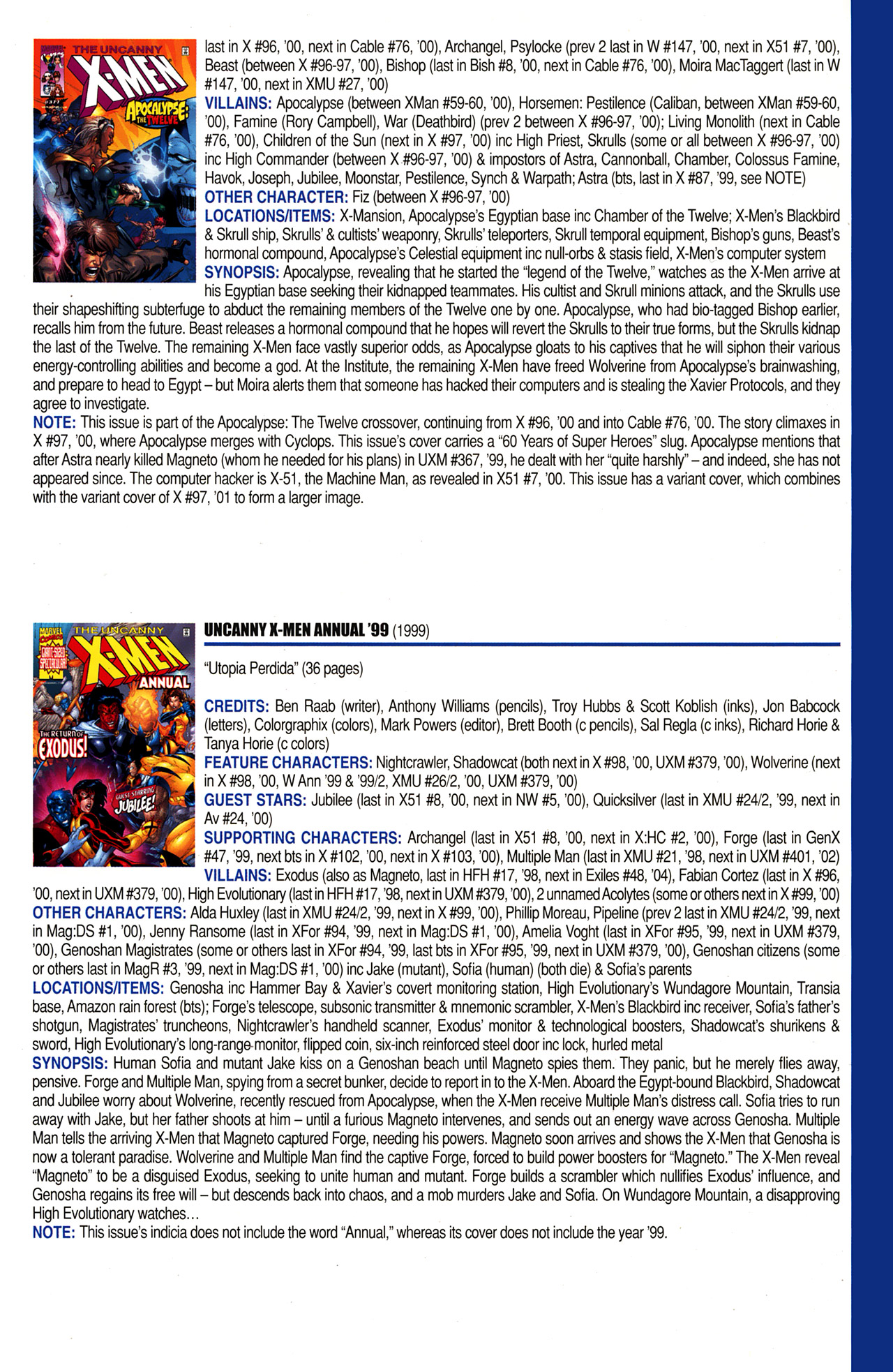 Read online Official Index to the Marvel Universe comic -  Issue #10 - 47