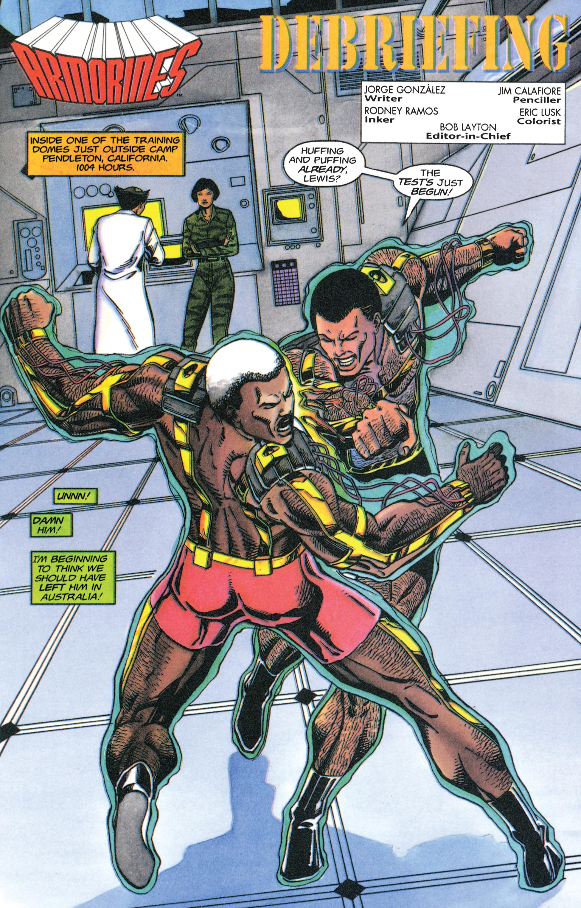 Read online Armorines comic -  Issue #4 - 2